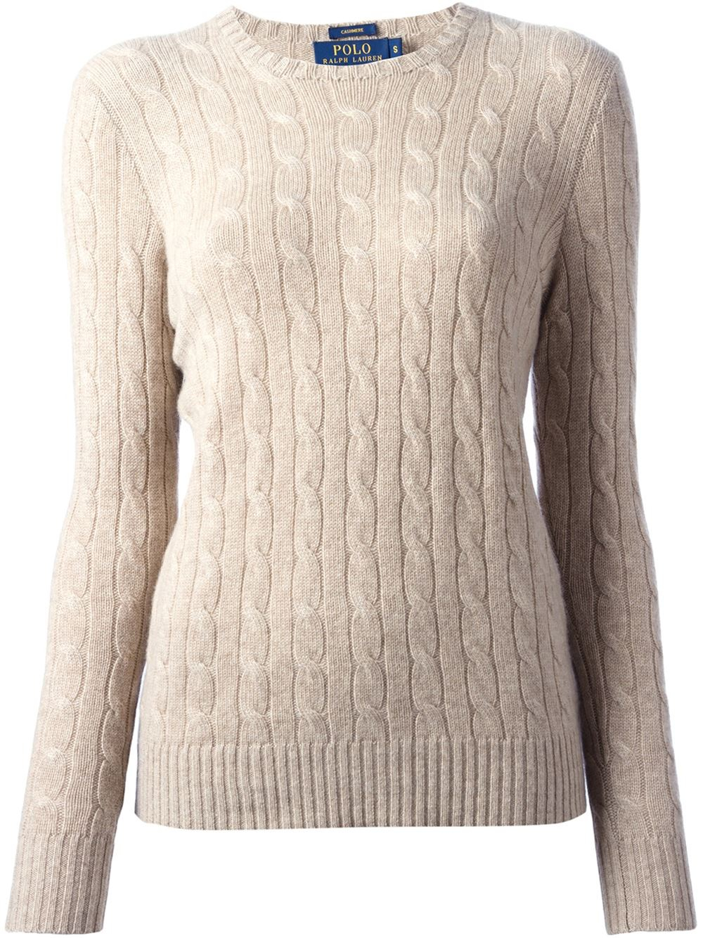 Lyst Polo Ralph Lauren Cable Knit Sweater In Natural