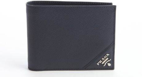 69f9e5a3f148 Prada Saffiano Leather Wallet Baltic Blue | Stanford Center for ...