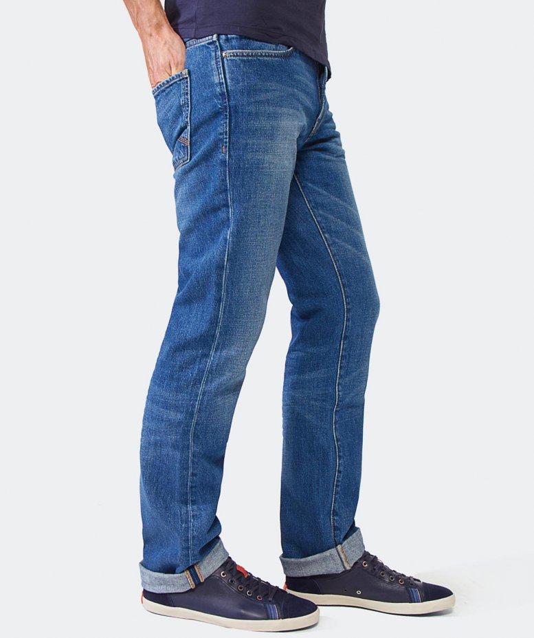 boss orange regular fit barcelona orange 24 jeans in blue. Black Bedroom Furniture Sets. Home Design Ideas