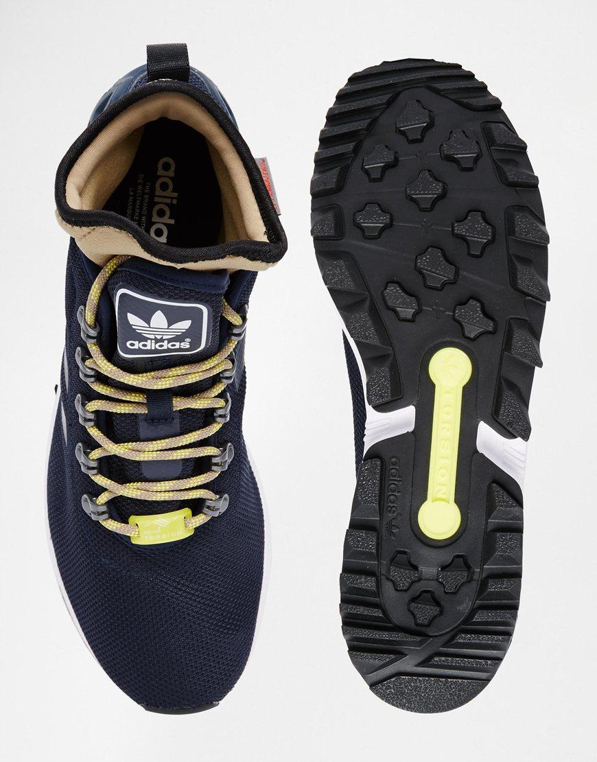 1437903136122 adidas Originals Zx Flux Winter Trainers S82932 in Blue for Men - Lyst