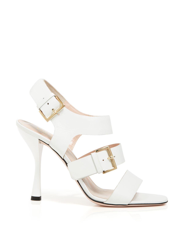 White Open Toe High Heels