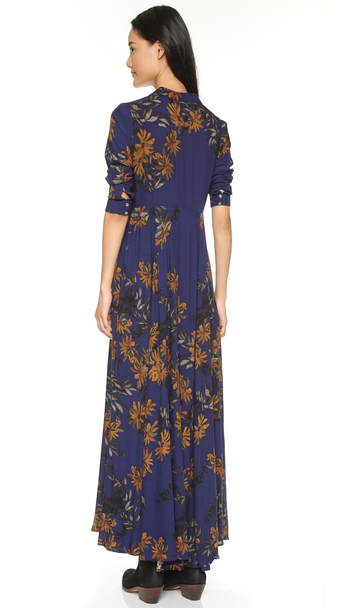 It hippie robe bleu marine