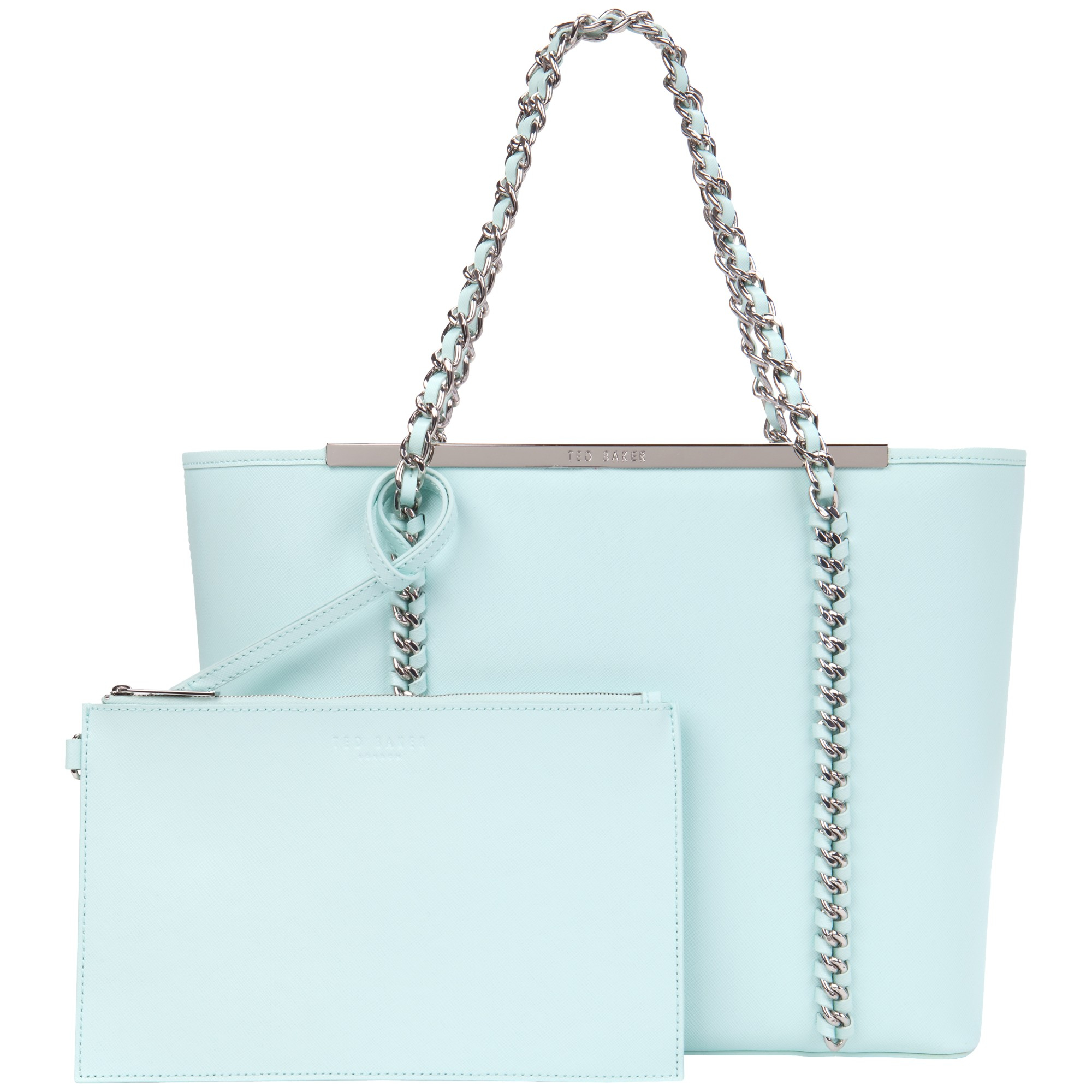 a2ee8646c Ted Baker Bluebel Chain Detail Leather Shopper Bag in Blue - Lyst