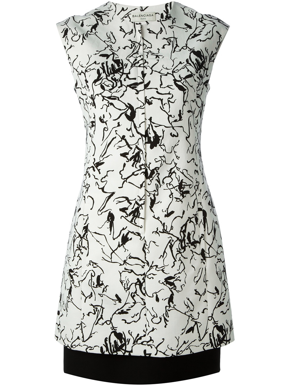 Lyst Balenciaga Ink Drawing Print Dress In White