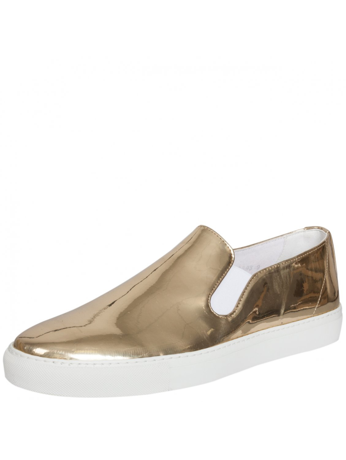 comme des gar 231 ons generic slip on patent shoe gold in