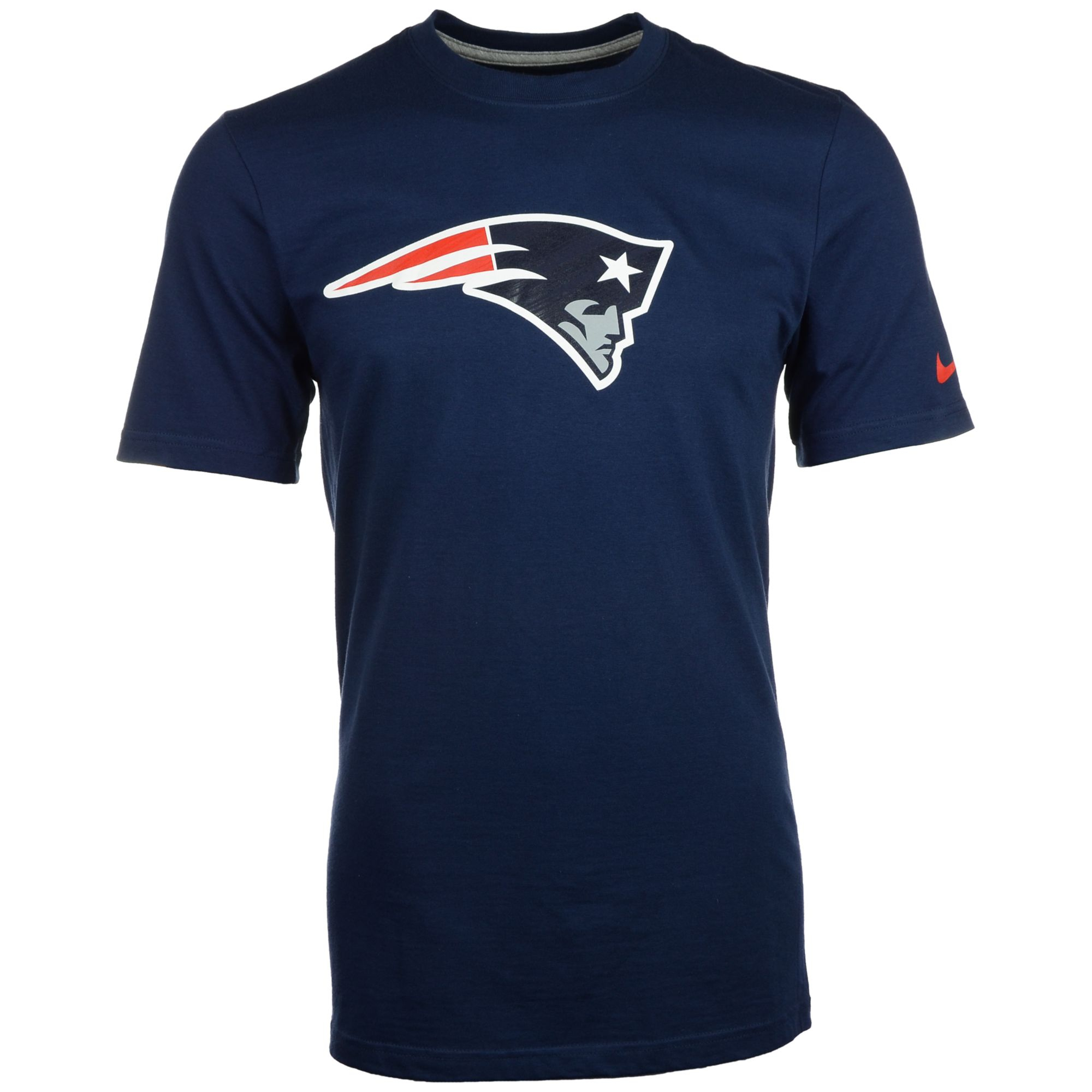 Nike blue men 39 s new england patriots logo t shirt for New england patriots shirts