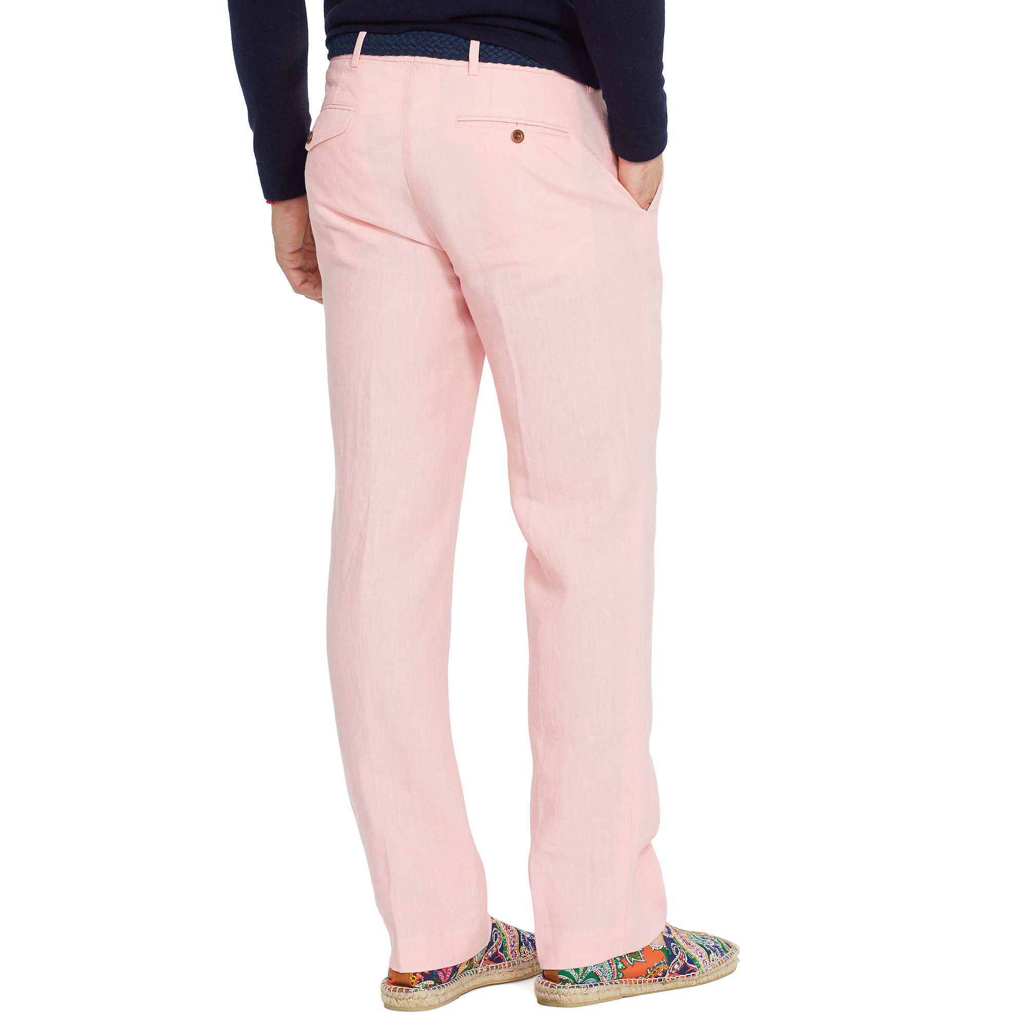 Polo ralph lauren Classic-fit Linen Pant in Pink for Men | Lyst
