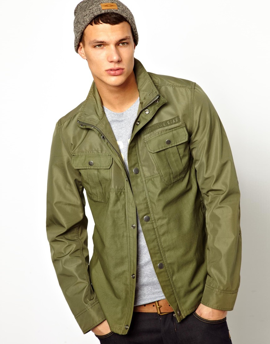 G-star raw G Star Overshirt Jacket Filch Bonded 70s Nylon in Green ...