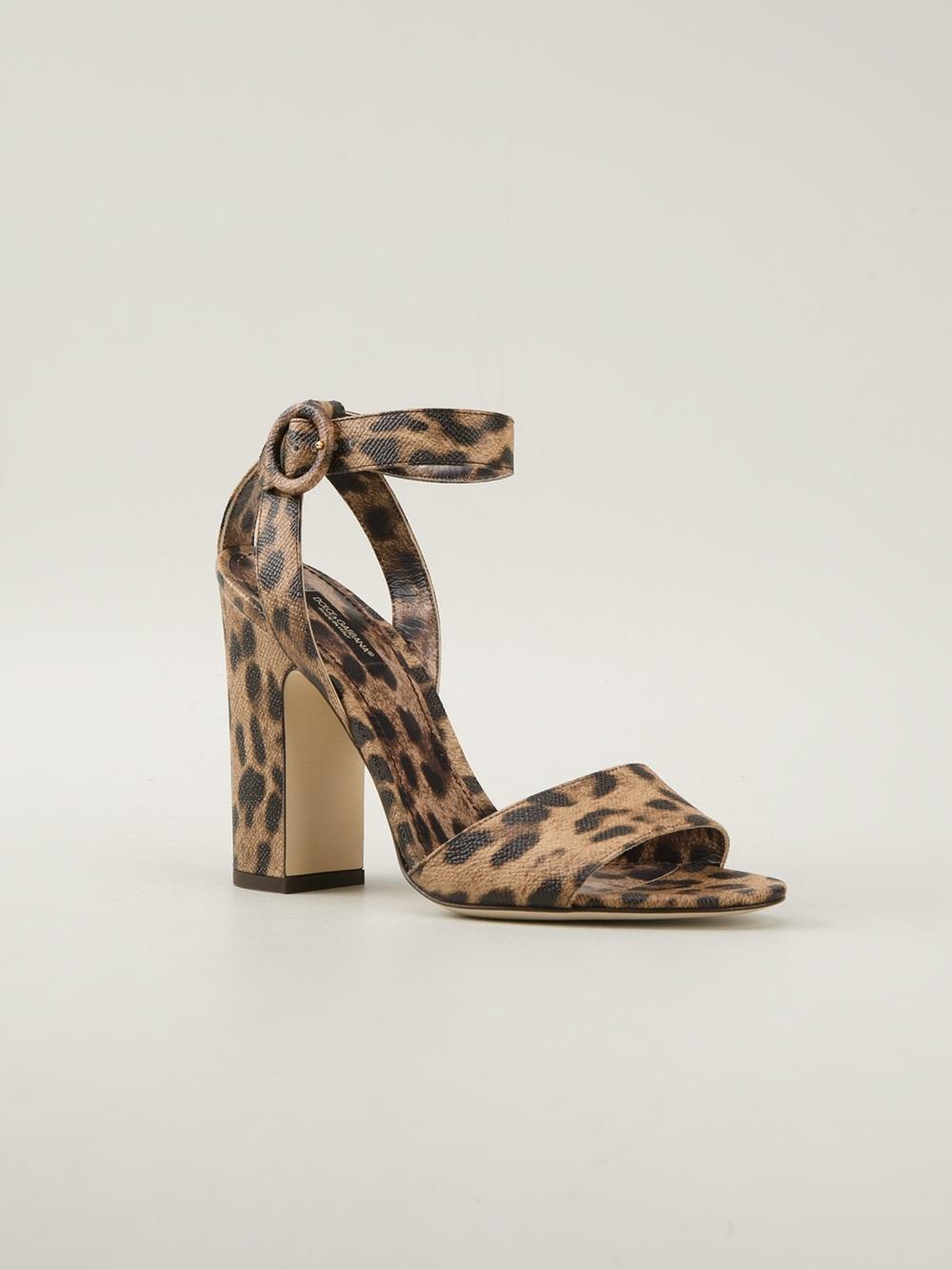 Dolce & Gabbana Leopard-Print Stiletto Sandals ZYqJbW