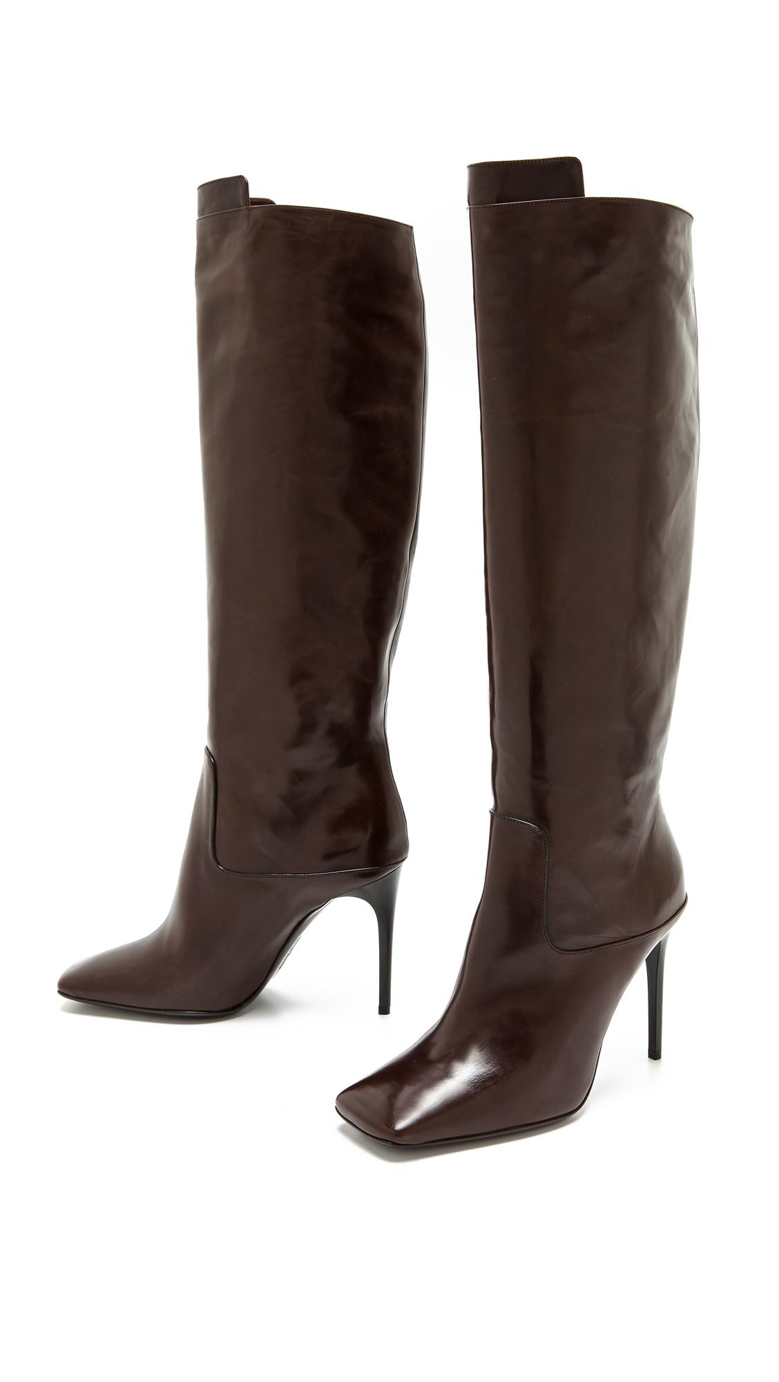 acne merial knee boots brown lyst