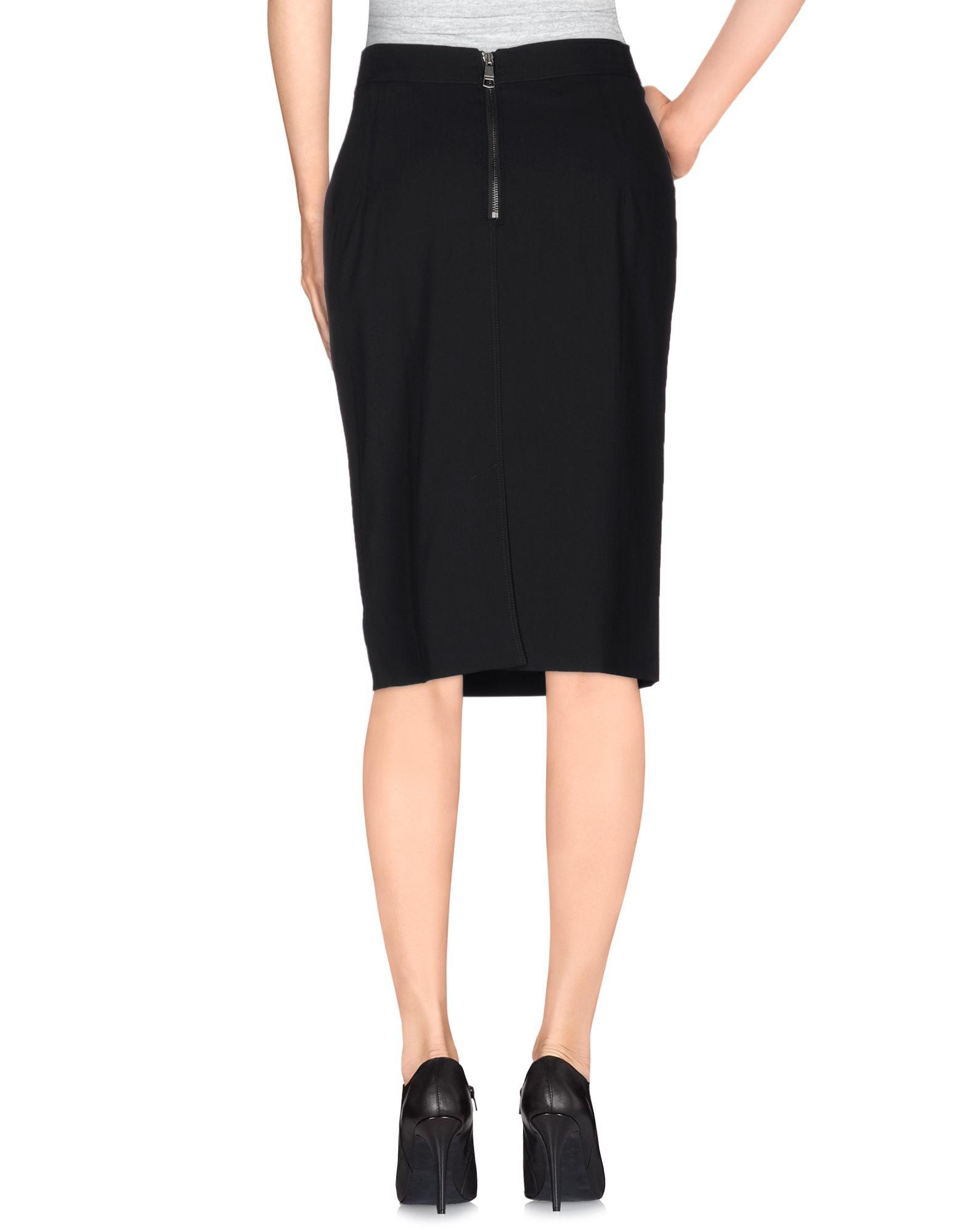 burberry knee length skirt in black lyst