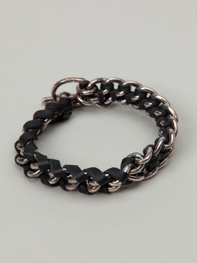 Lyst Tobias Wistisen Chain Bracelet In Black For Men