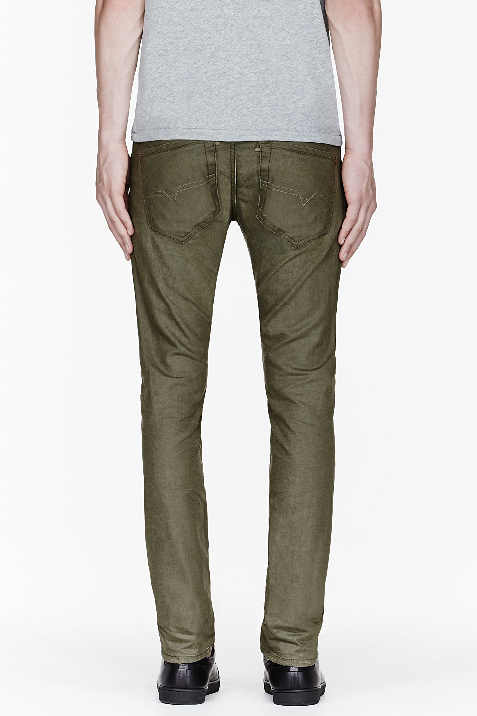 Lyst Diesel Olive Green Thavar Jeans In Green For Men