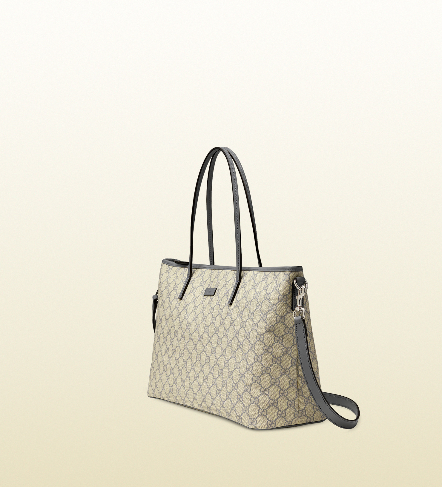 59dca214d Gucci Gg Supreme Canvas Tote in Natural - Lyst