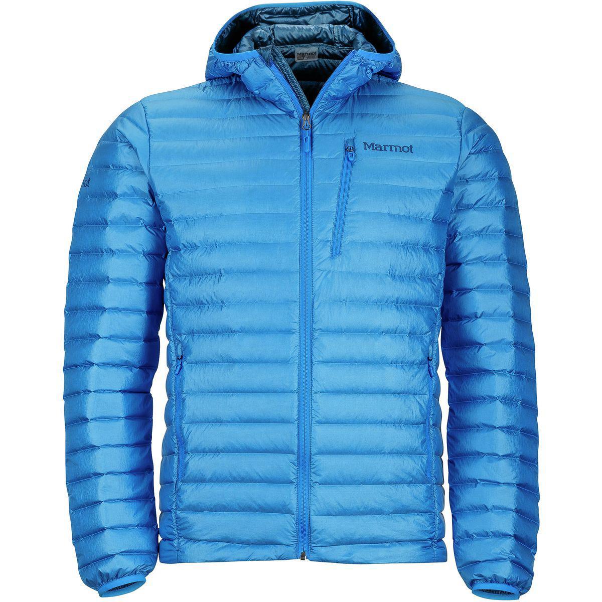 Lyst - Marmot Quasar Nova Hooded Down Jacket in Blue for Men 3d84ab0ee8a6