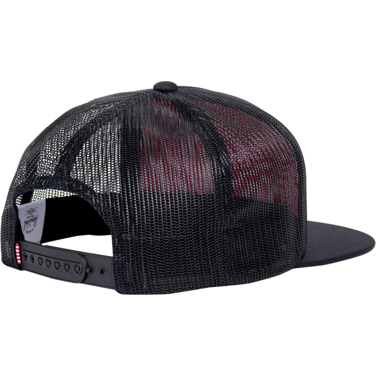 Herschel Supply Co. - Black Whaler Mesh Trucker Hat for Men - Lyst. View  fullscreen 1c5115902d5e