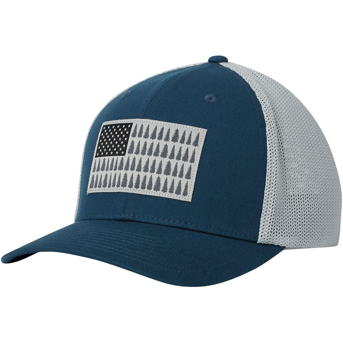 da78d5cb2c0 Lyst - Columbia Mesh Tree Flag Trucker Hat in Blue for Men