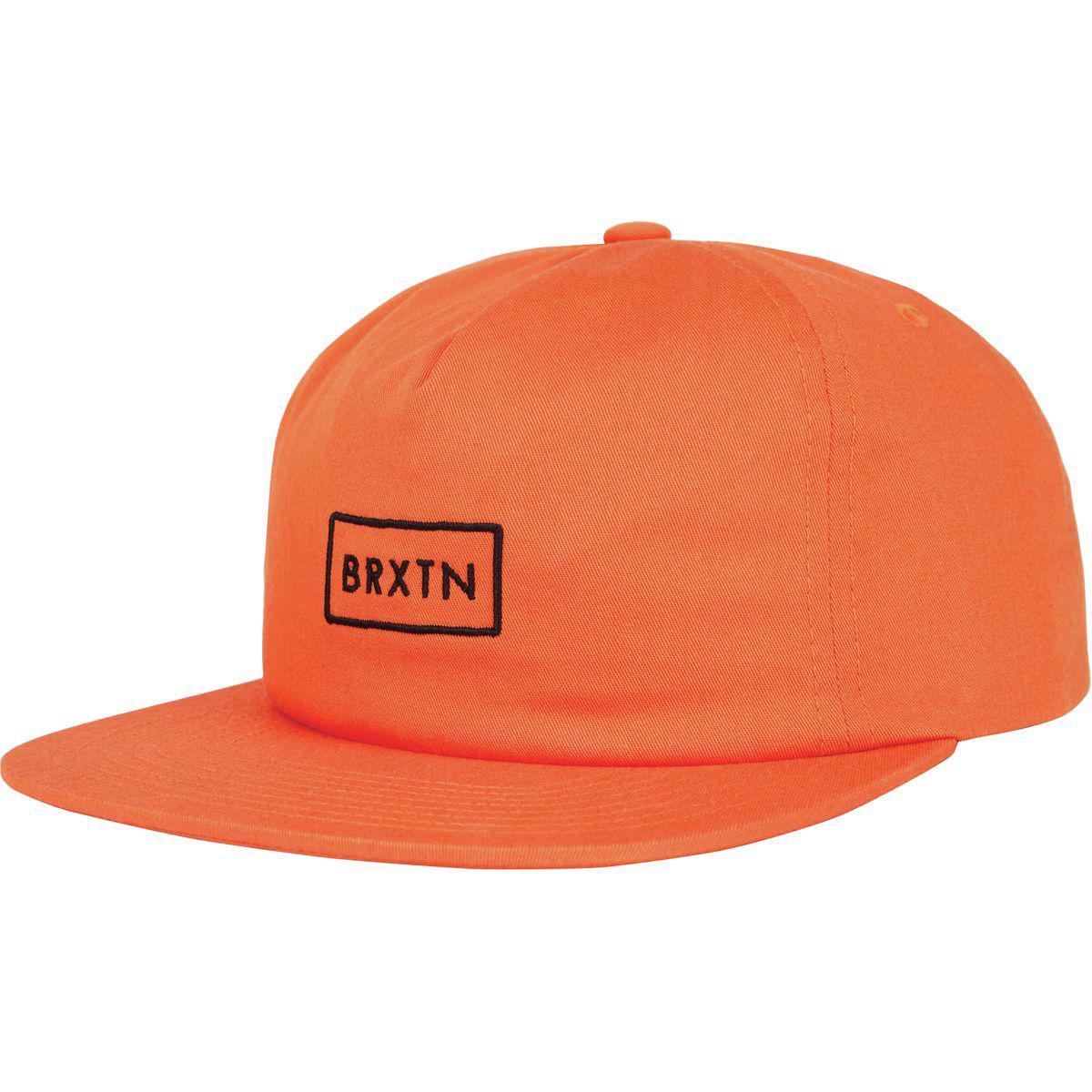3b81724aebf Lyst - Brixton Rift Mp Snapback Hat in Orange for Men