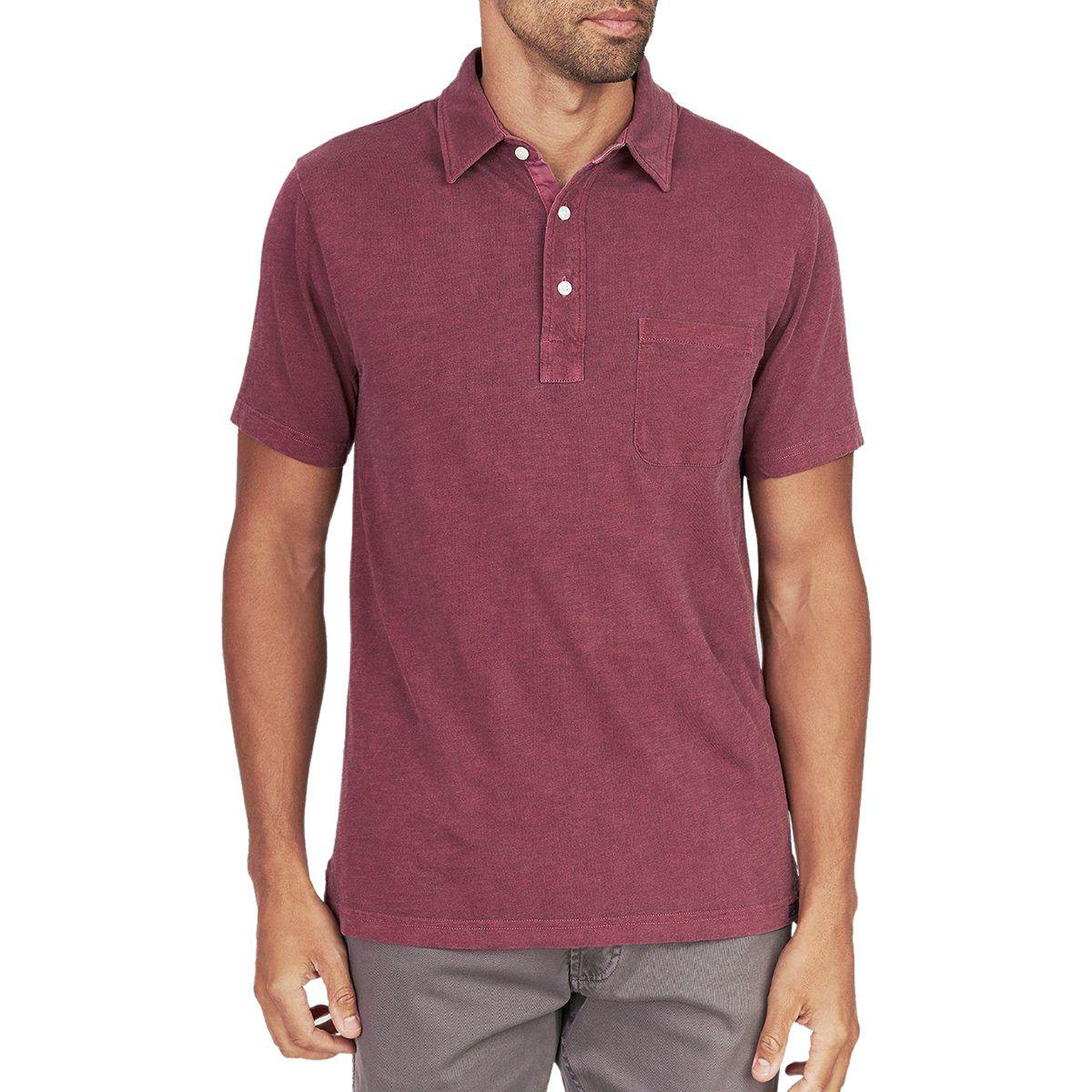 0516774bd5c9 Lyst - Faherty Brand Sunwashed Polo Shirt in Red for Men