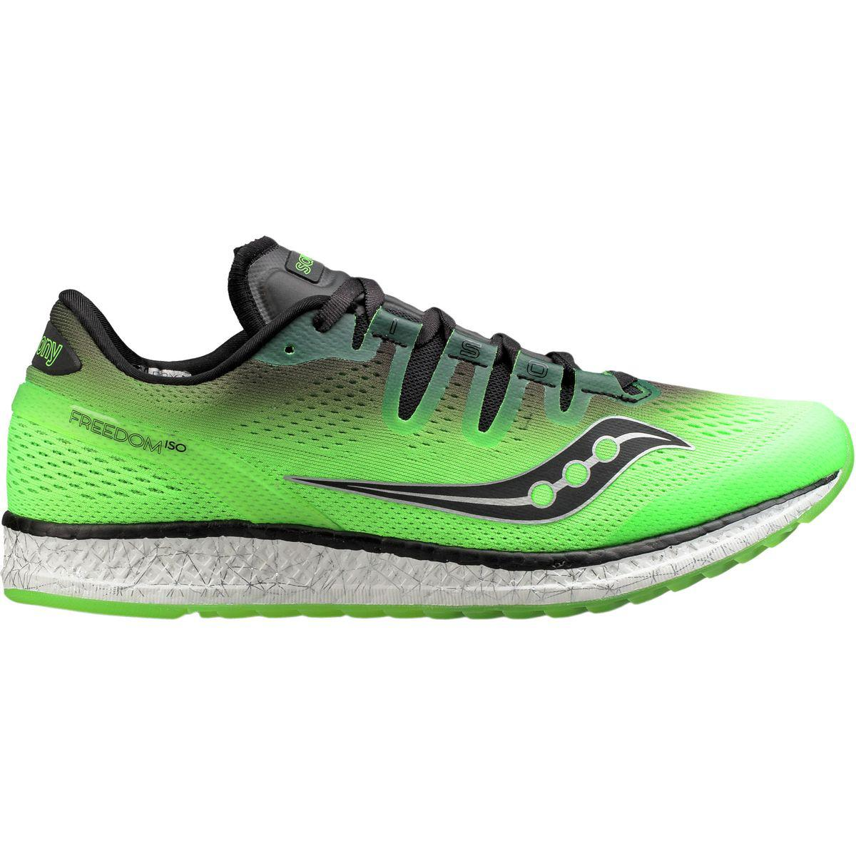 8f048a94db3 Lyst - Saucony Freedom Iso Running Shoe in Green for Men