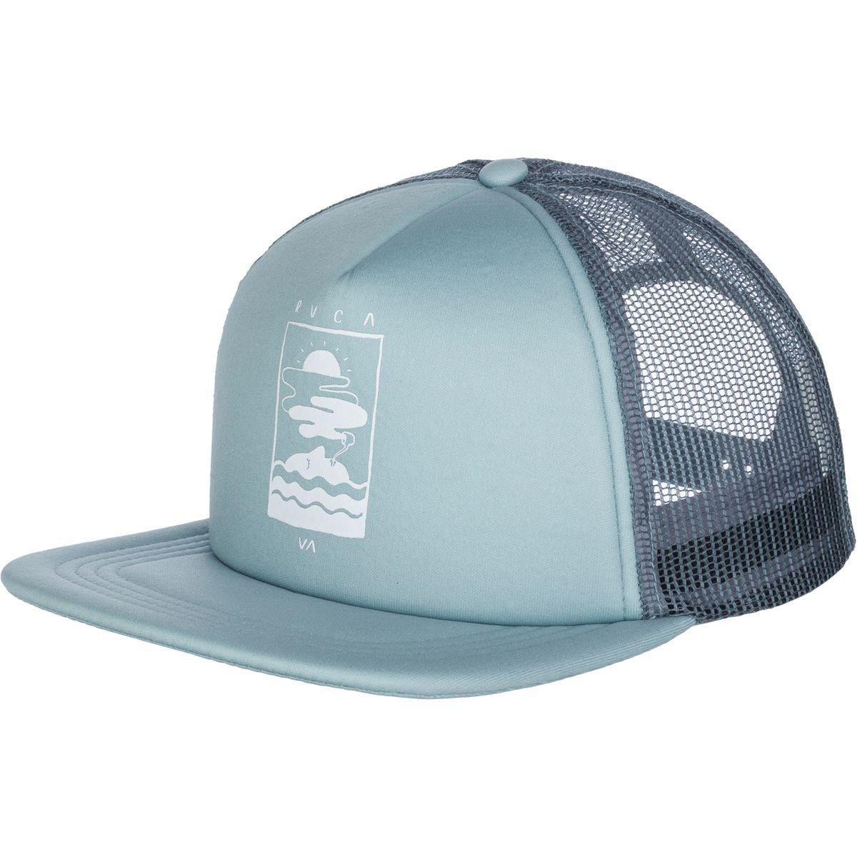 pick up 5e04d 1992a ... ebay lyst rvca snooze trucker hat in blue for men b42c6 85b6a