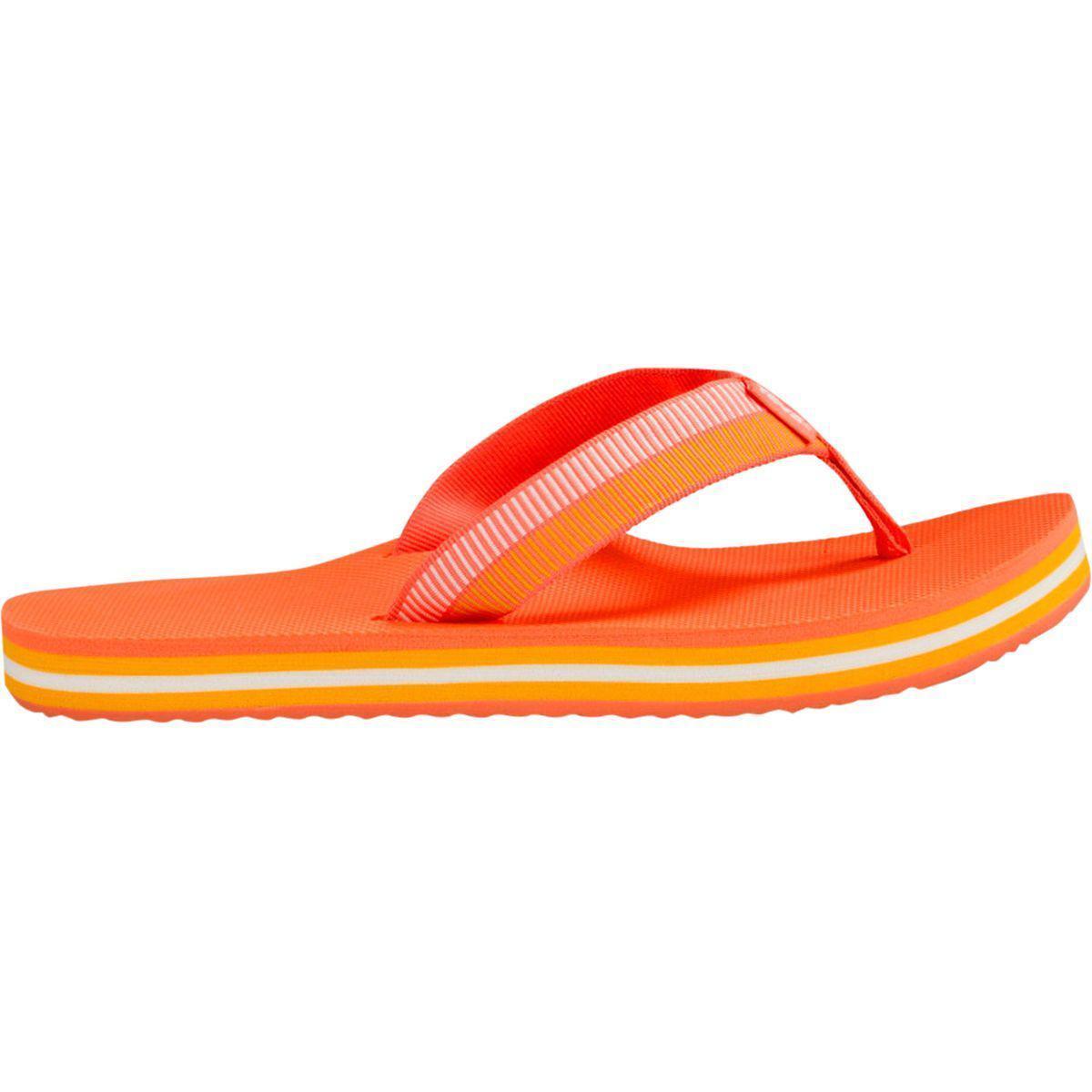 6be97c7d07124 Lyst - Teva Deckers Flip Flop in Orange