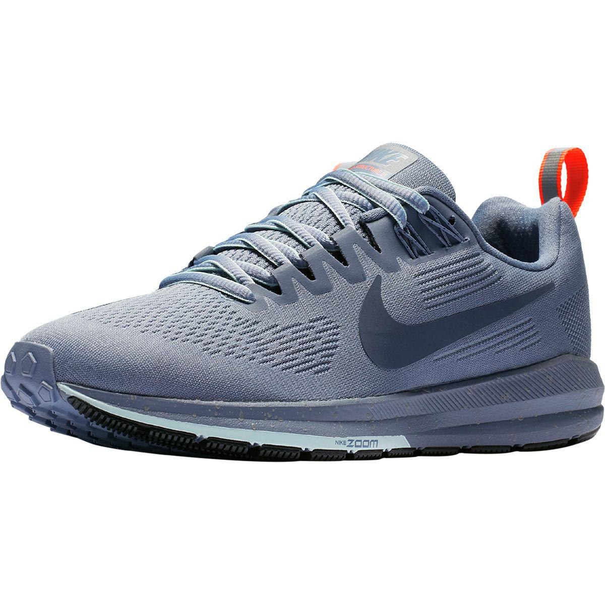 cd49e16991bf ... Lyst - Nike Air Zoom Structure 21 Shield Running Shoe in Blu ...