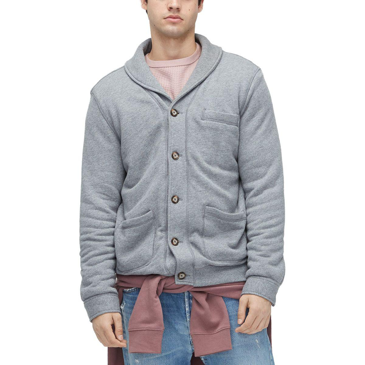Lyst Ugg Sherpa Lined Shawl Cardigan In Gray For Men