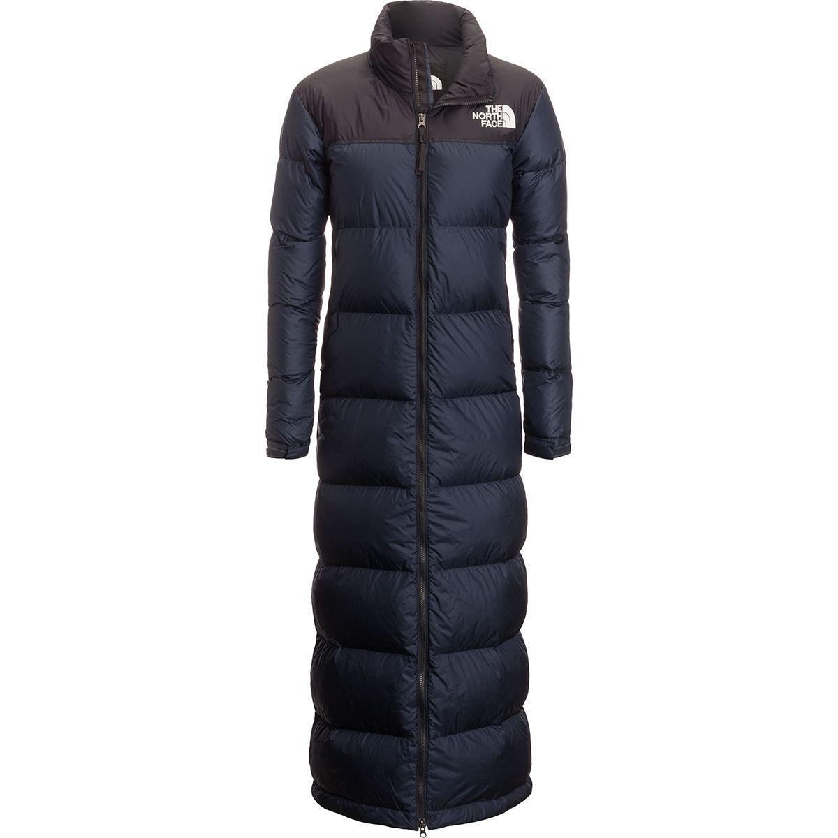 Lyst - The North Face Nuptse Duster Down Jacket in Blue 4dc13efde