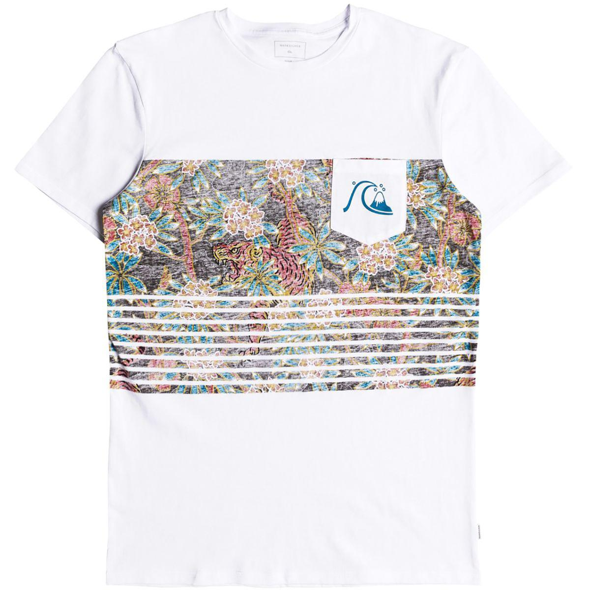 2b337652d87f Lyst - Quiksilver Silent Furry T-shirt in White for Men