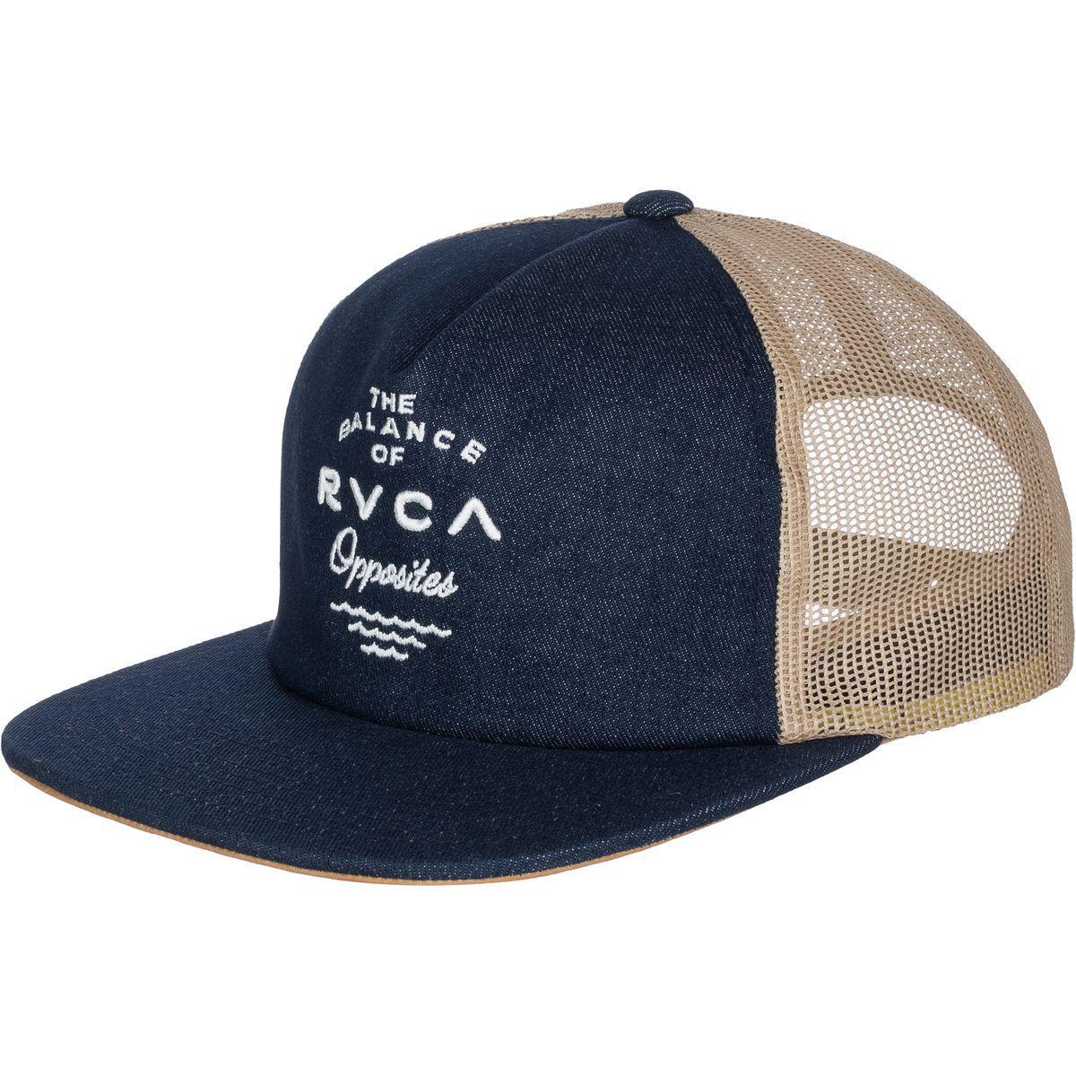 e31e971cf951e ... closeout rvca blue side b trucker hat for men lyst 2b032 e46b7