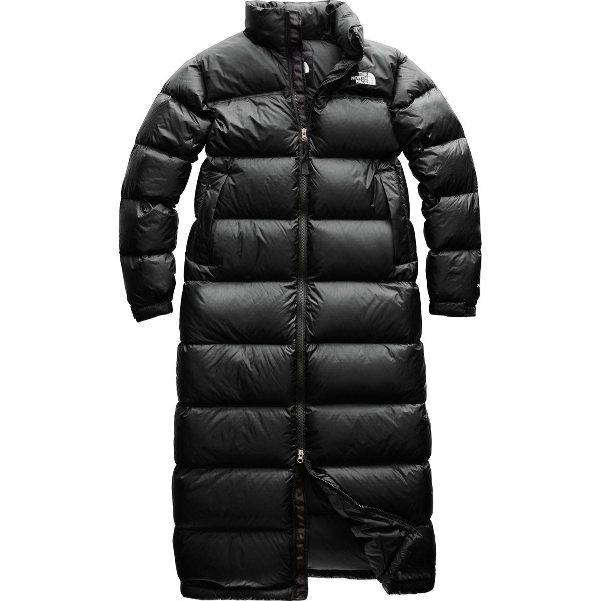 d09e06df0ed8 ... sale lyst the north face nuptse duster down jacket in black 6d790 c5200