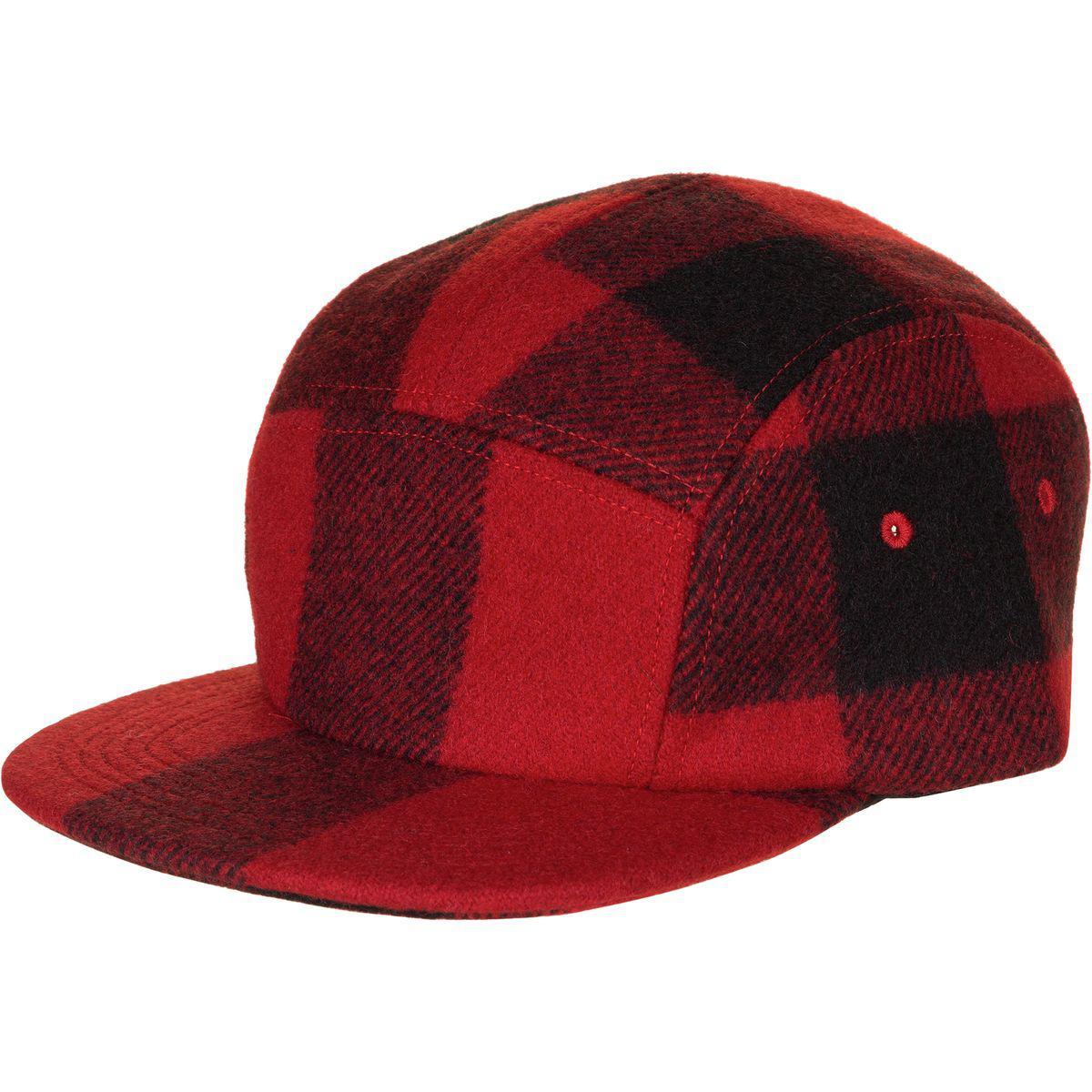 d5e211e1f49 Lyst Filson 5 Panel Wool Cap In Red For Men