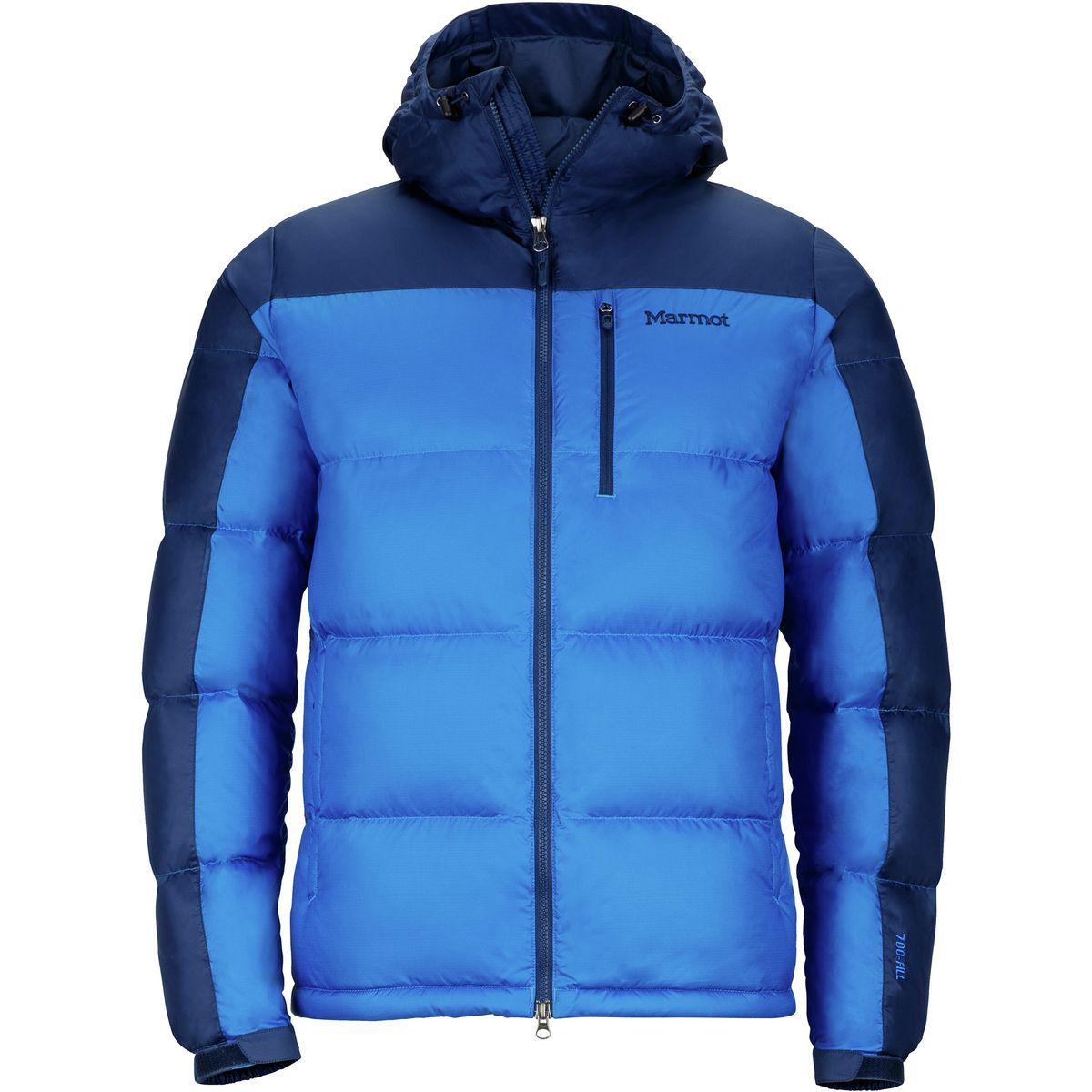 4917dd4b970 Marmot Guides Hooded Down Jacket in Blue for Men - Lyst