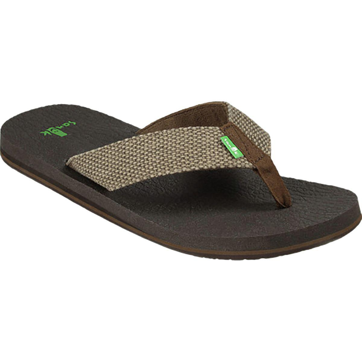Sanuk Fraid Not Big and Tall Thong Sandal(Men's) -Khaki Canvas Clearance Brand New Unisex Cheap 100% Authentic Get Authentic Cheap Online 4PxmjQBh