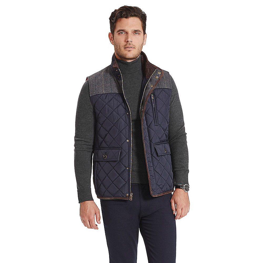 Lyst Vince Camuto Quilted Utility Vest In Blue