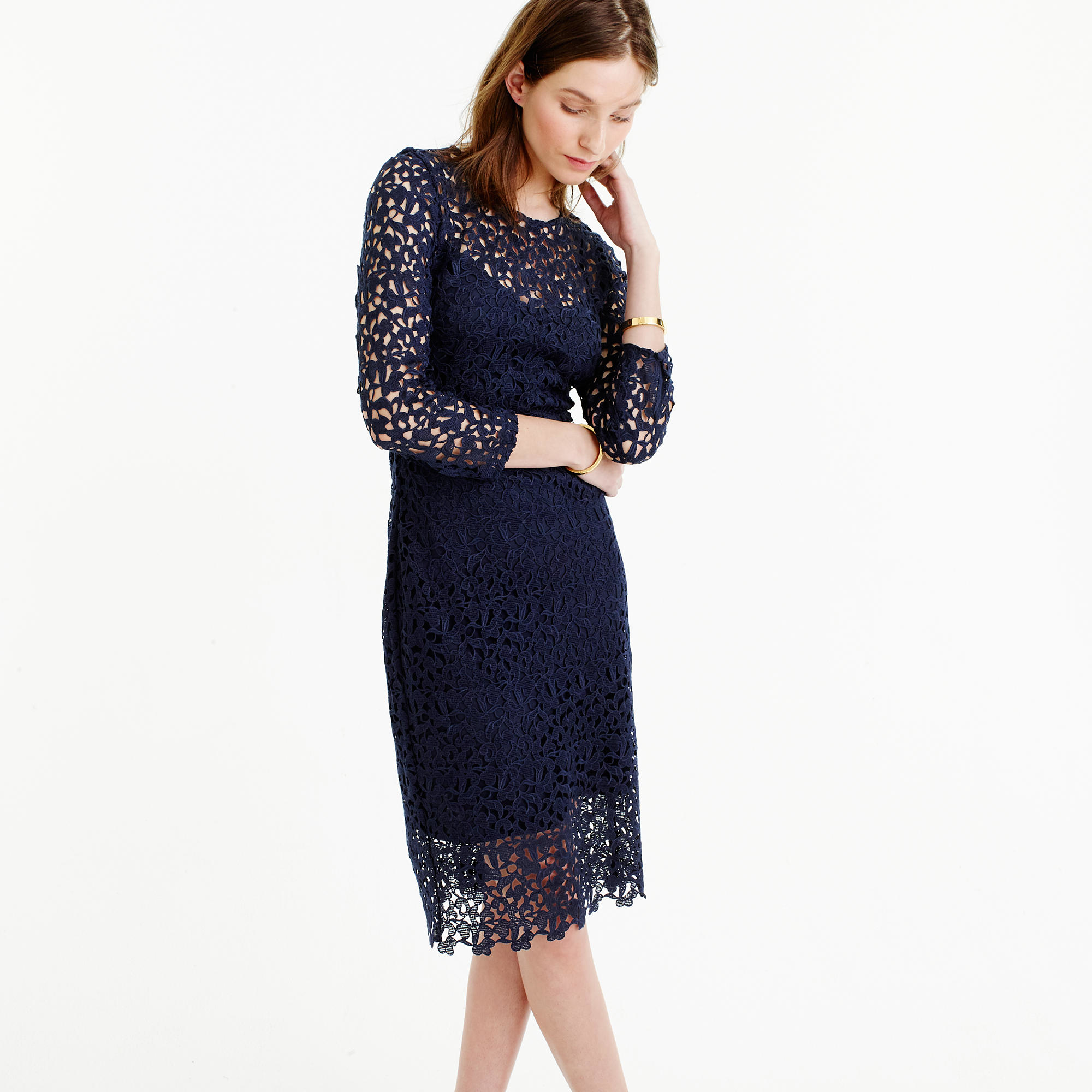 J.crew Collection Lace Sheath Dress in Blue