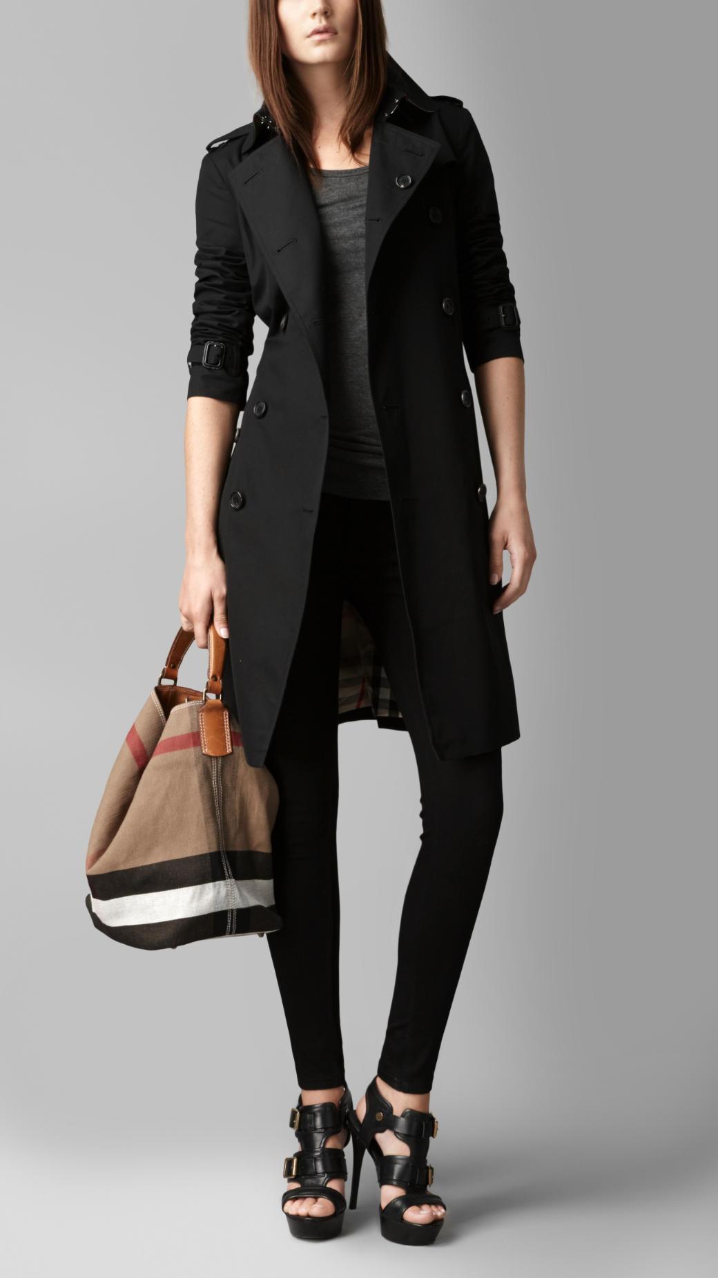 Snap Lyst Burberry Medium Leather Chevron Canvas Check Hobo Bag ... 31b47122804f4