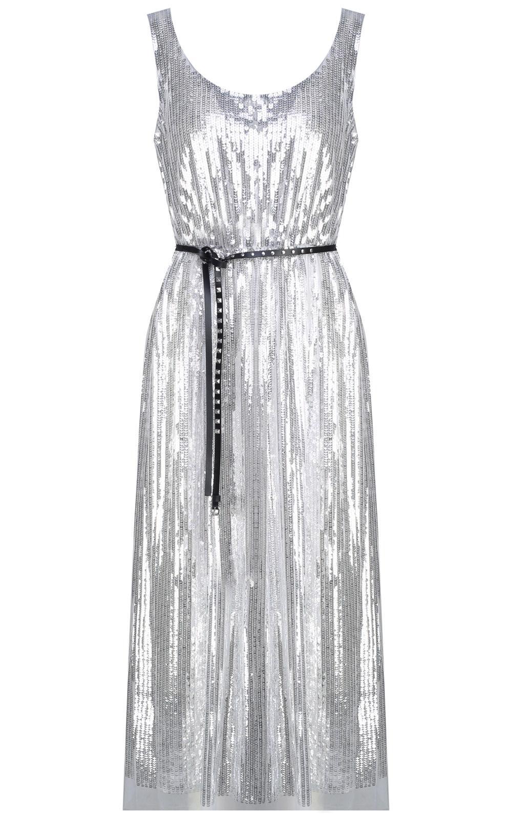 450d377ff4b Lyst - Marc Jacobs Sequin-embellished Tulle Long Dress