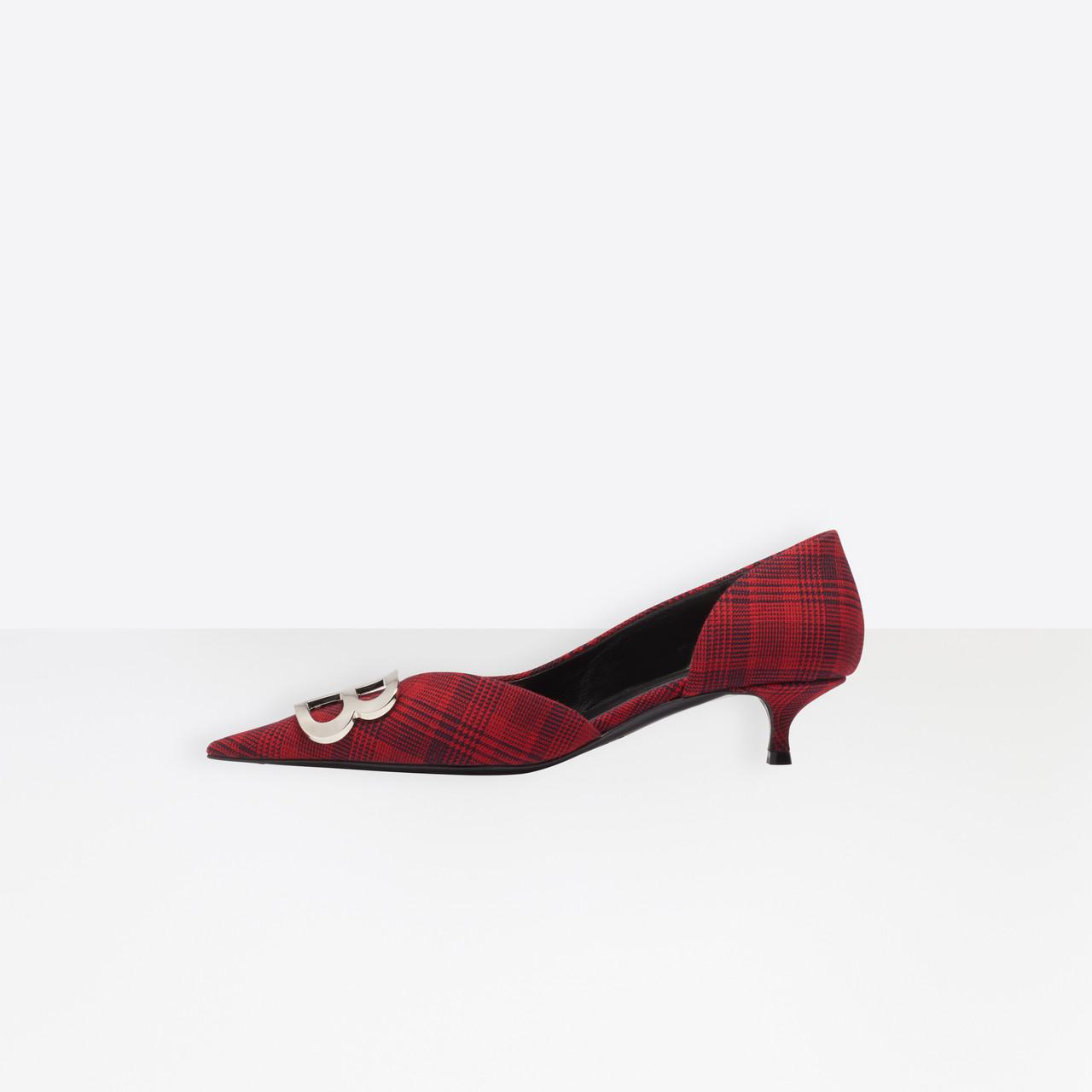 06f1111b306 Balenciaga - Red Bb D orsay Pumps Prince Of Wales - Lyst. View fullscreen