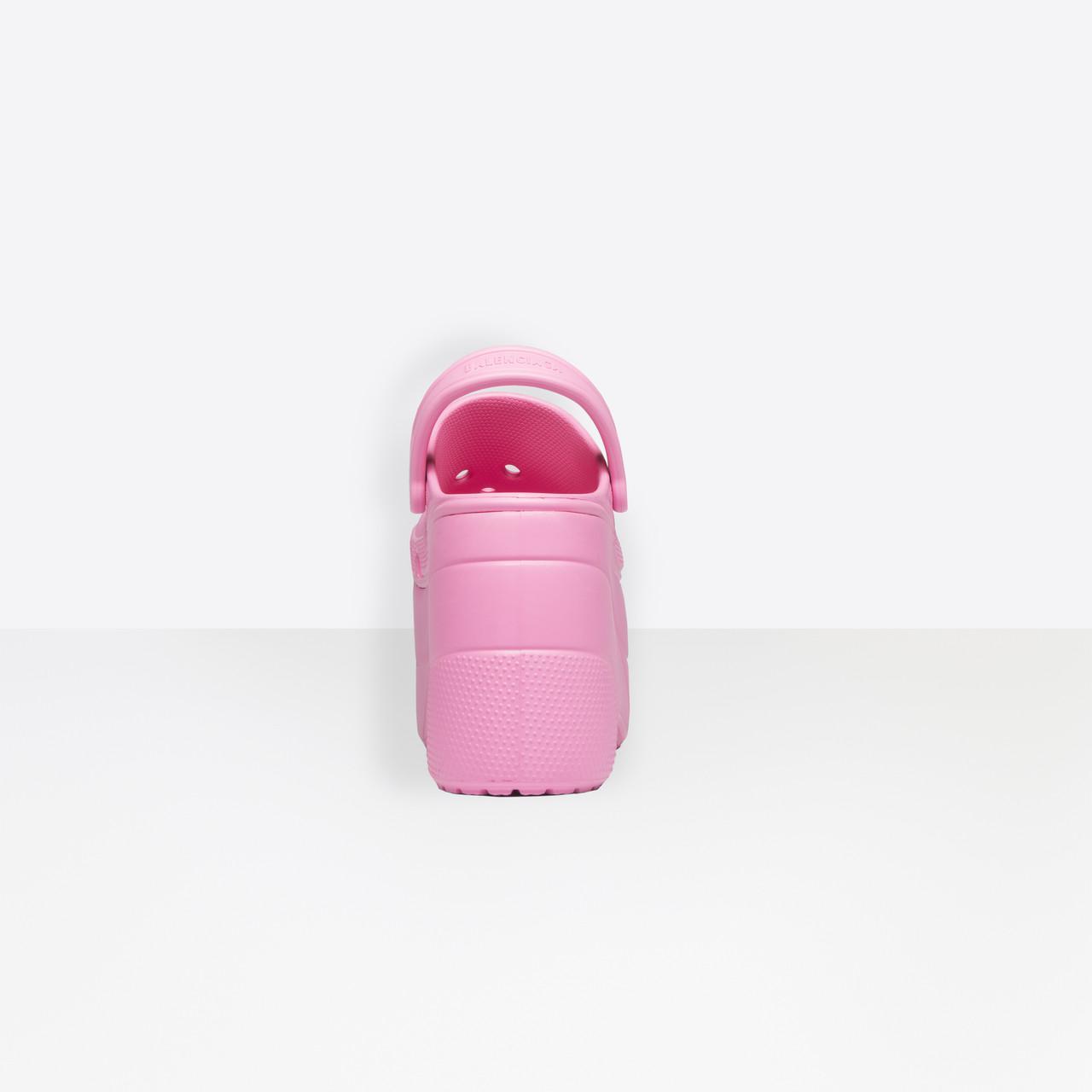 Plateforme Balenciaga Sandales Rose À Et Lyst En Appliqués Coloris qwEBFZX