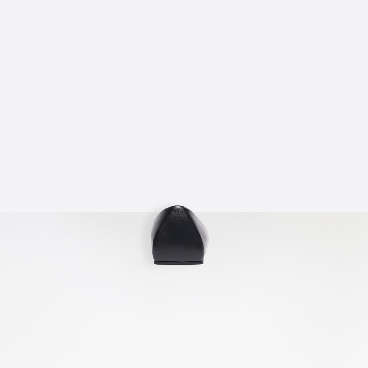 1cc5d16bb Balenciaga - Black Square Knife Bb Flat Ballerinas - Lyst. View fullscreen