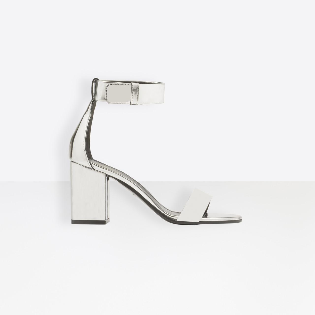 18cbb27e2b0 Balenciaga Ville Sandals in Metallic - Lyst