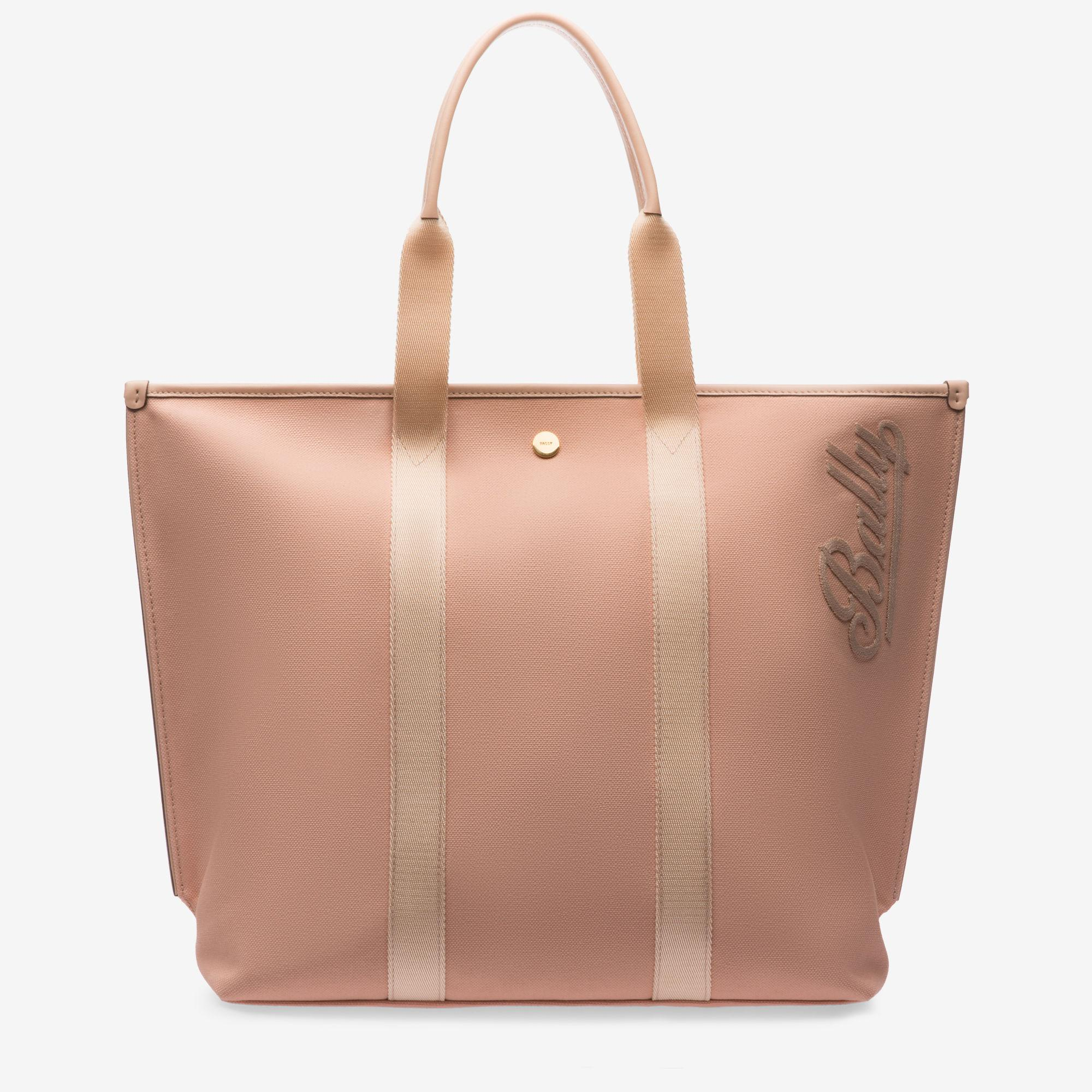 df0faa2e41 Lyst - Bally Canvas Tote Medium in Pink