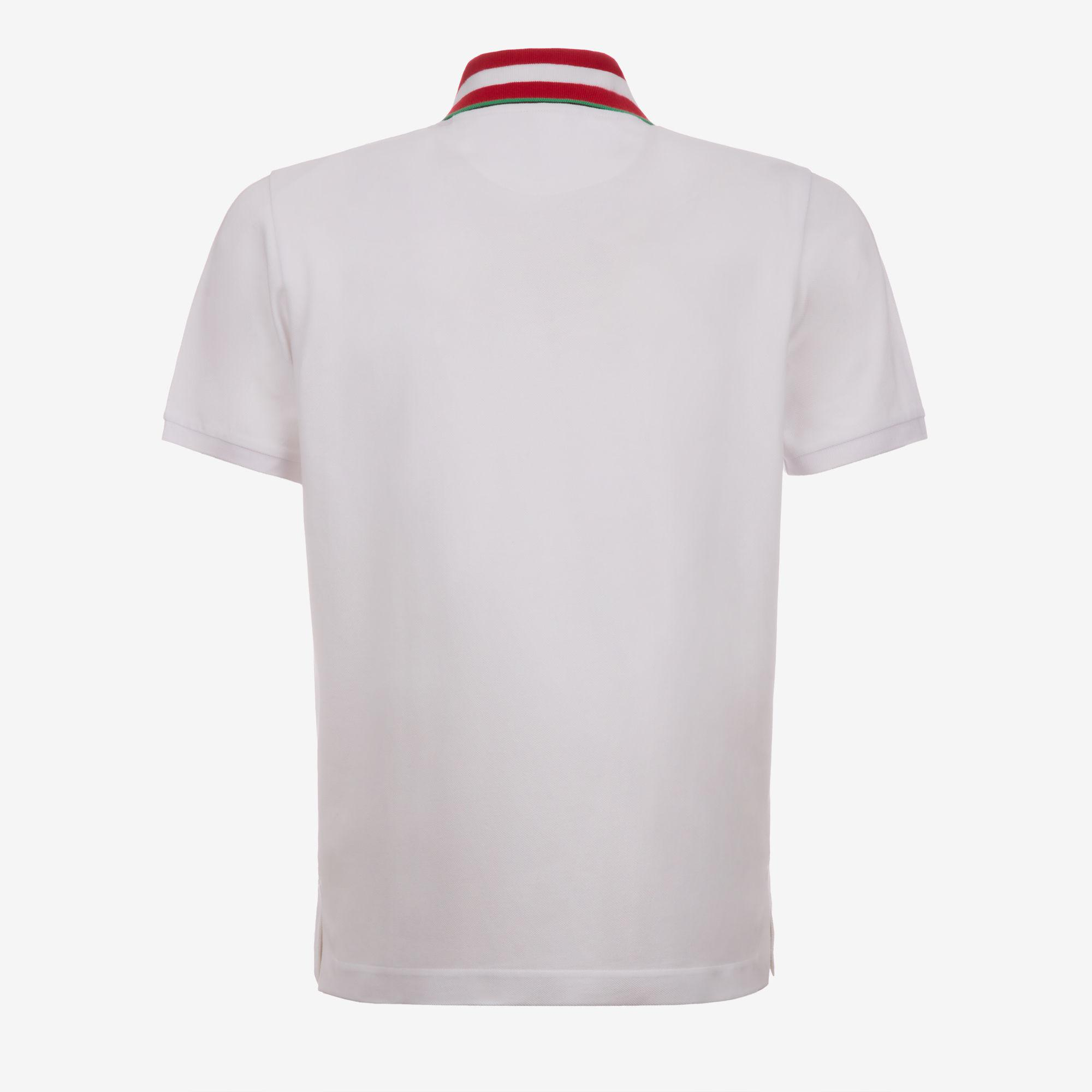 aa73107a Lyst - Bally Embroidered Stripe Collar Polo Shirt in White for Men