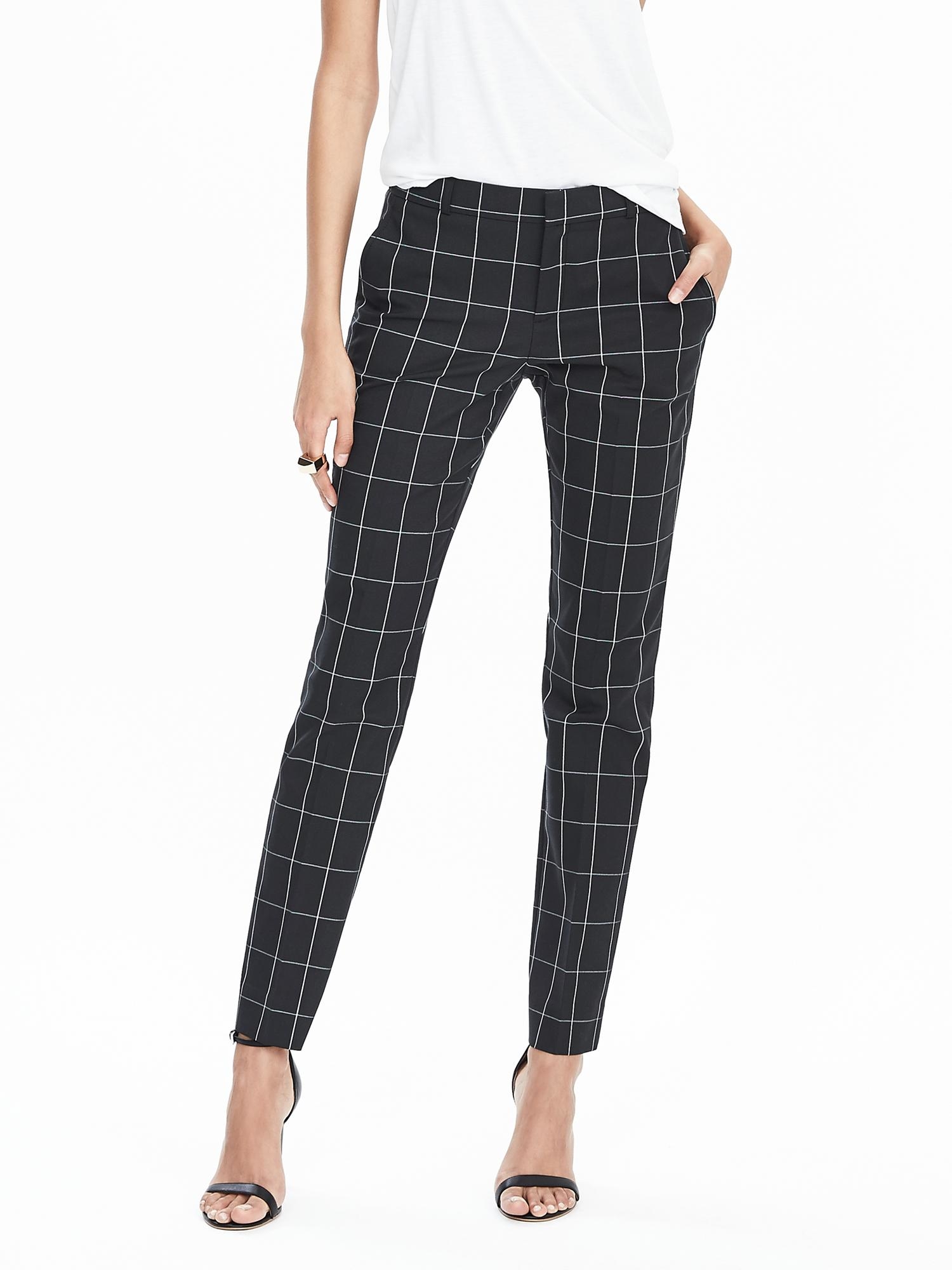 Banana republic Ryan-fit Windowpane Slim-straight Pant in ...