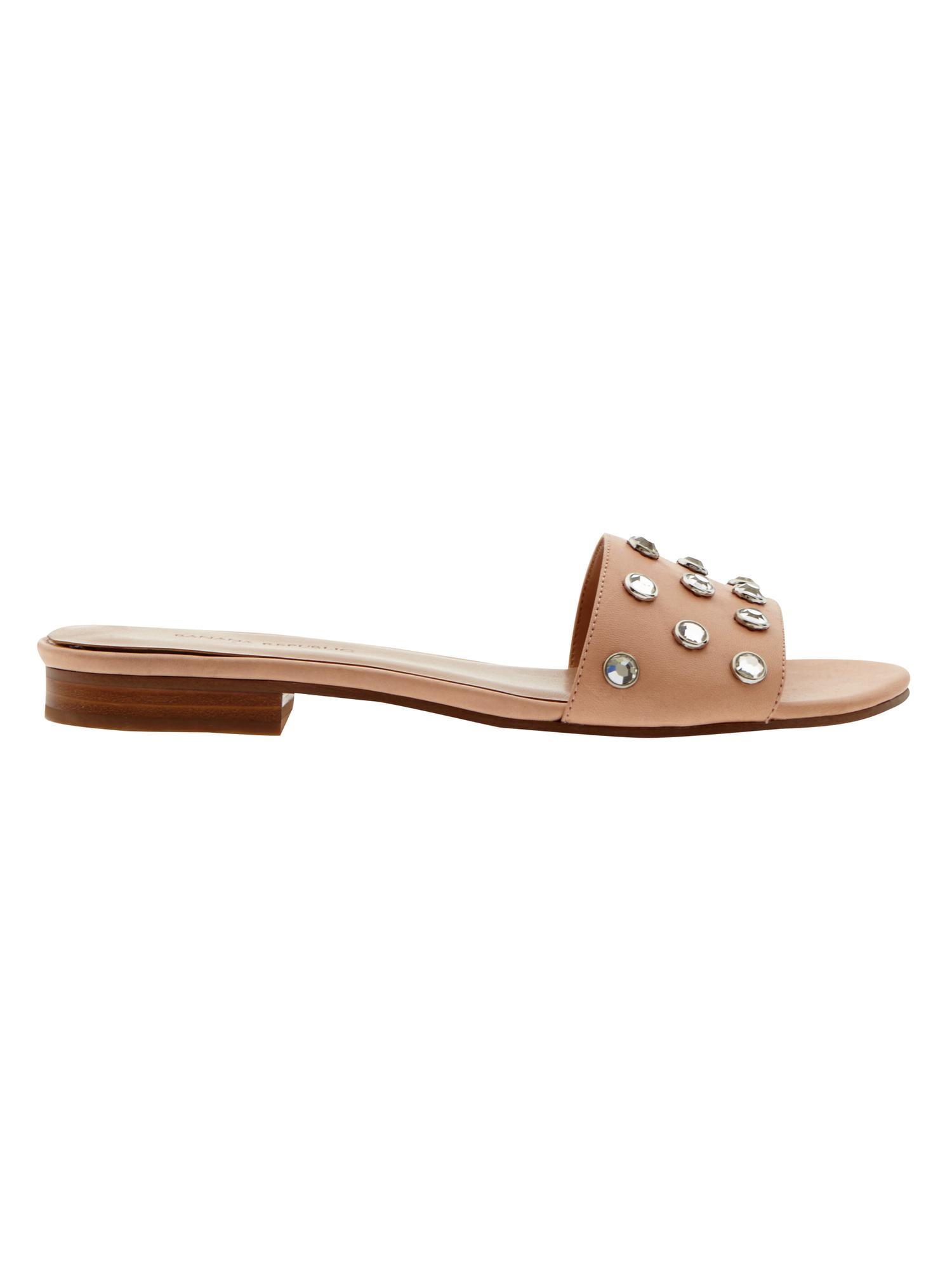 Lyst Banana Republic Olena Embellished Slide Sandal In Brown