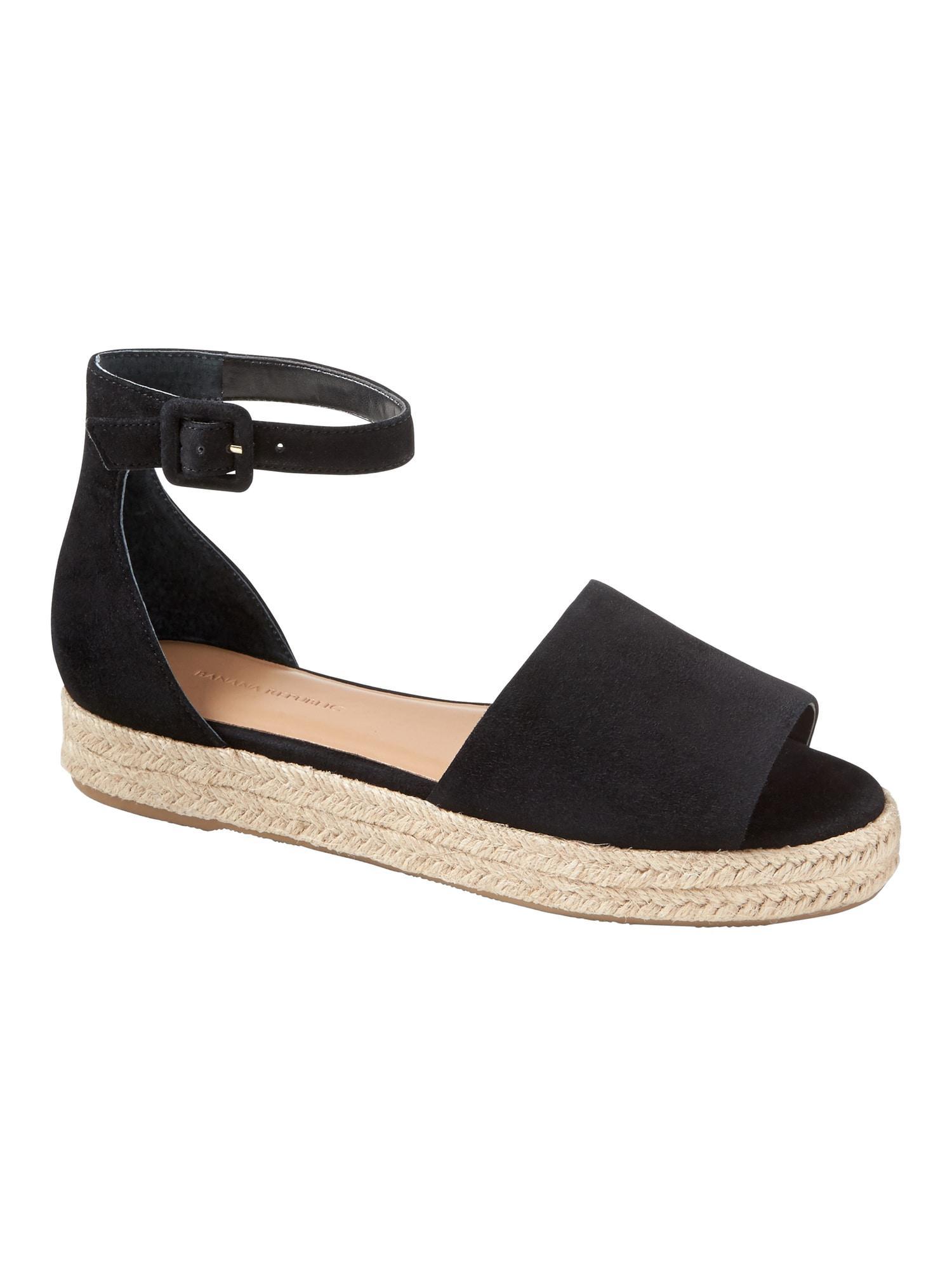 482eca21ea7 Lyst - Banana Republic Peep-toe Flatform Espadrille Sandal in Black