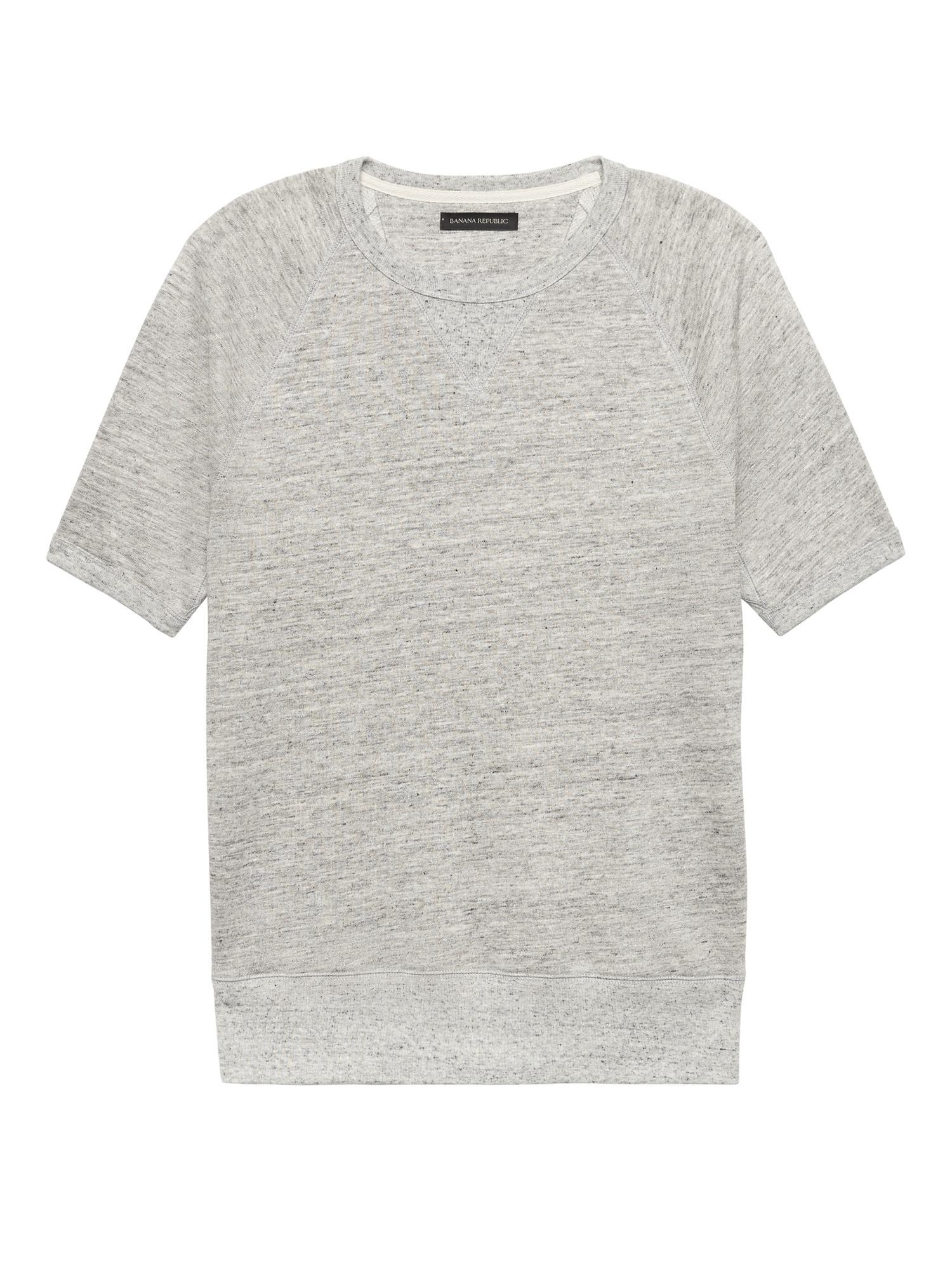 d45167e8092e76 Lyst - Banana Republic Heritage Linen-cotton French Terry Sweatshirt ...