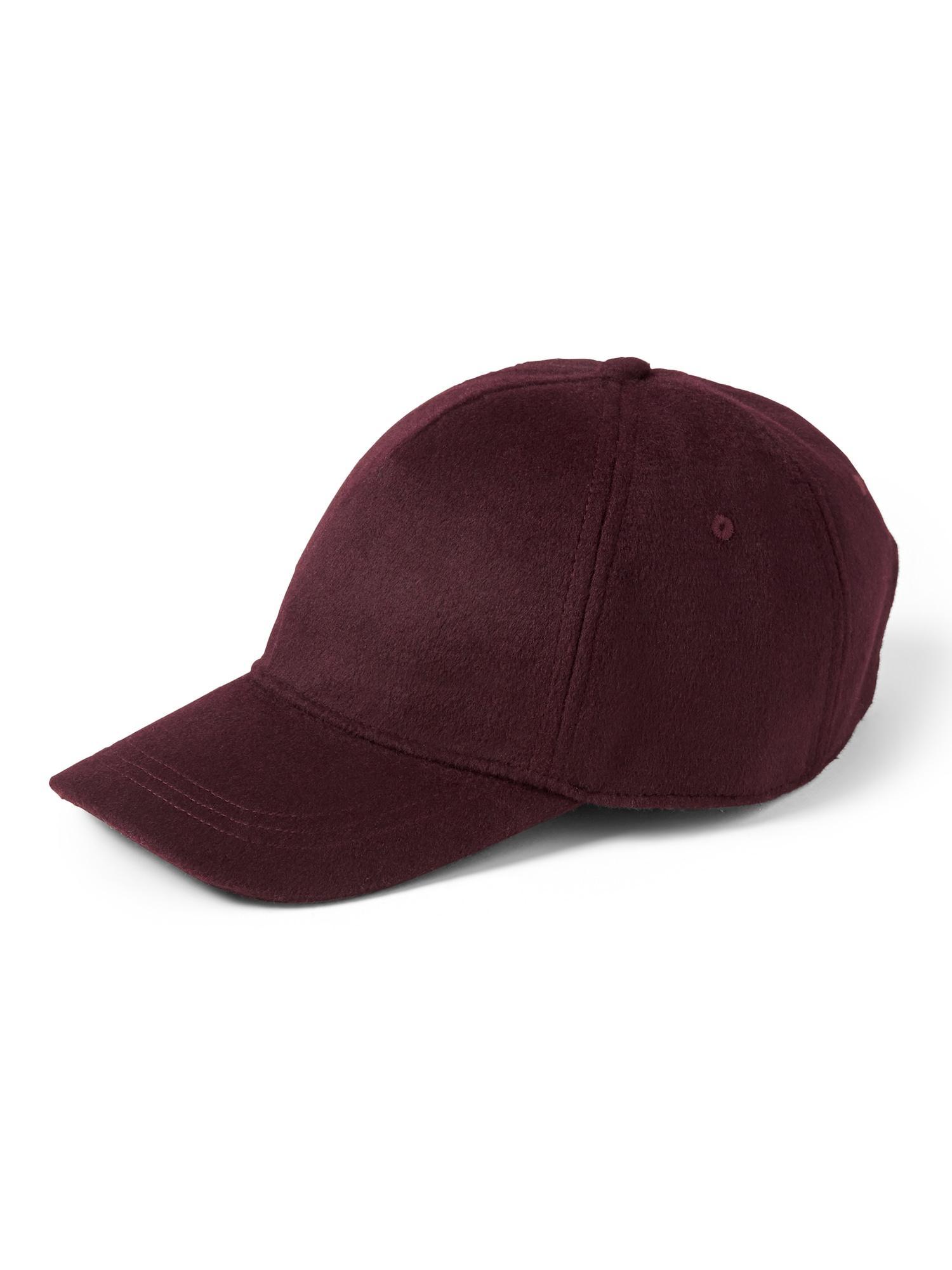 112630124 Lyst - Banana Republic Wool Felt Baseball Cap in Red for Men